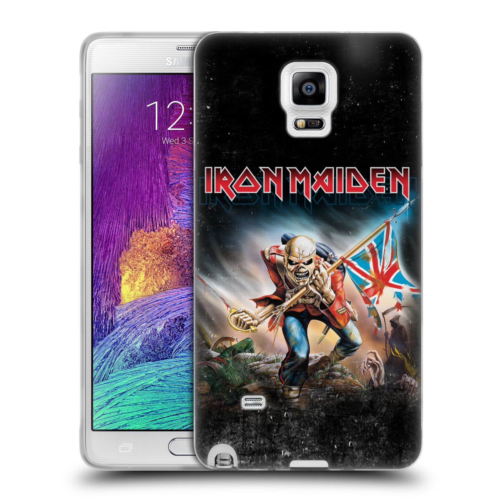 Silikonové pouzdro na mobil Samsung Galaxy Note 4 HEAD CASE - Iron Maiden - Trooper 2016