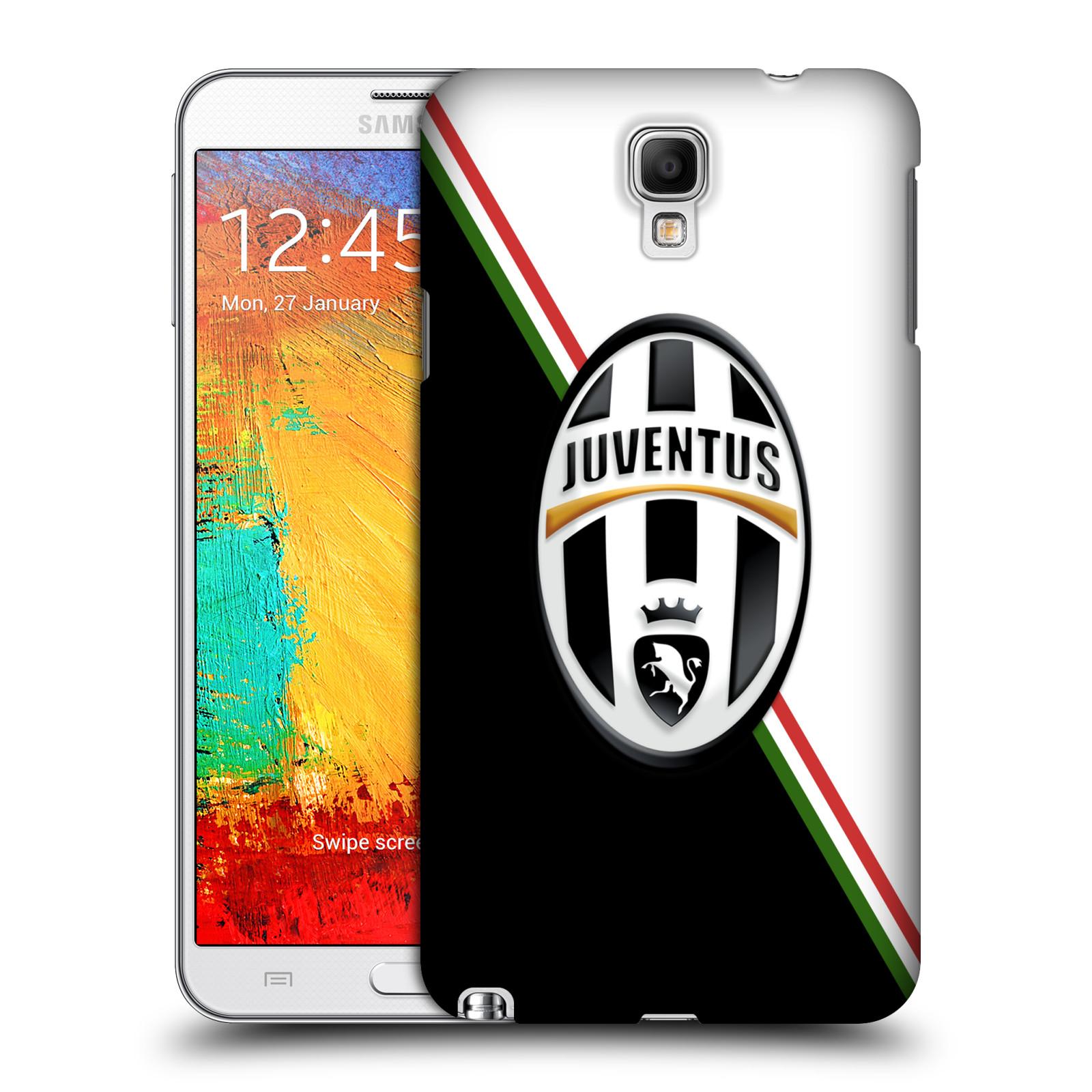 Plastové pouzdro na mobil Samsung Galaxy Note 3 Neo HEAD CASE Juventus FC - Black and White (Plastový kryt či obal na mobilní telefon Juventus FC Official pro Samsung Galaxy Note 3 Neo SM-N7505)