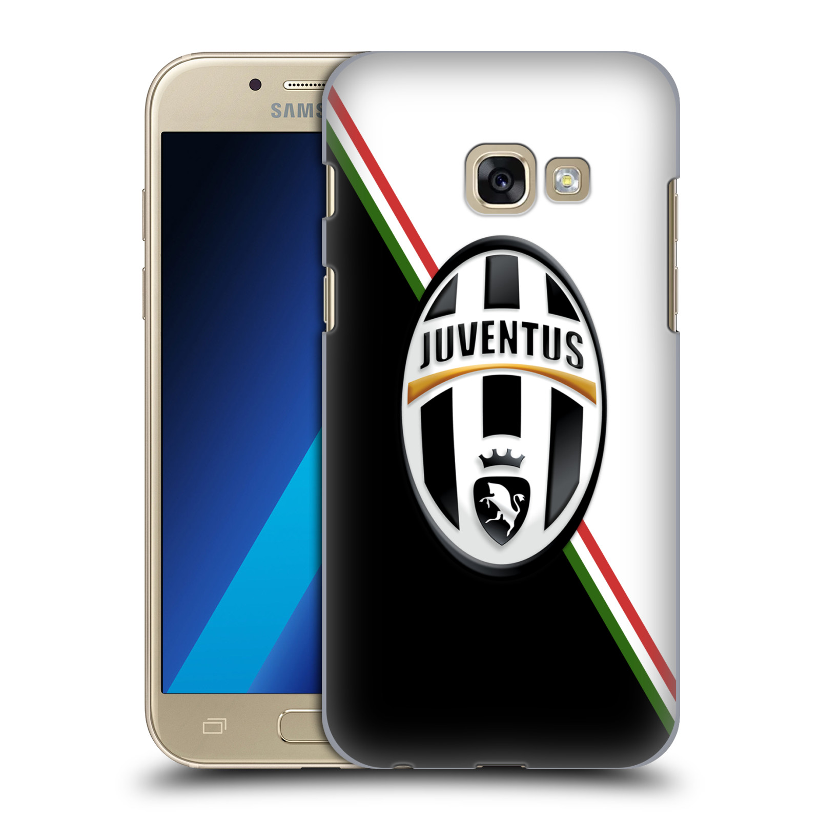 Plastové pouzdro na mobil Samsung Galaxy A3 (2017) HEAD CASE Juventus FC - Black and White