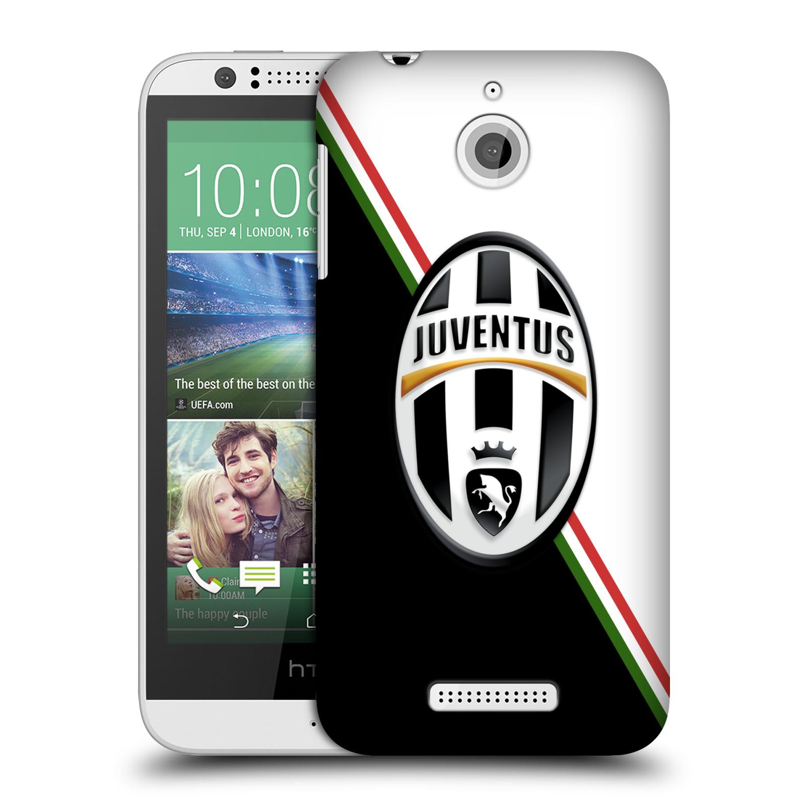 Plastové pouzdro na mobil HTC Desire 510 HEAD CASE Juventus FC - Black and White (Plastový kryt či obal na mobilní telefon Juventus FC Official pro HTC Desire 510)