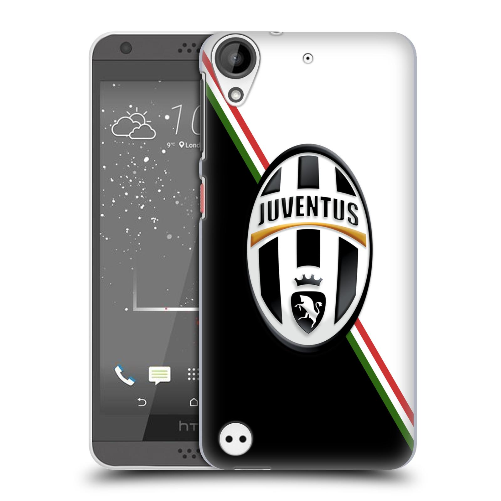 Plastové pouzdro na mobil HTC Desire 530 HEAD CASE Juventus FC - Black and White (Plastový kryt či obal na mobilní telefon Juventus FC Official pro HTC Desire 530)