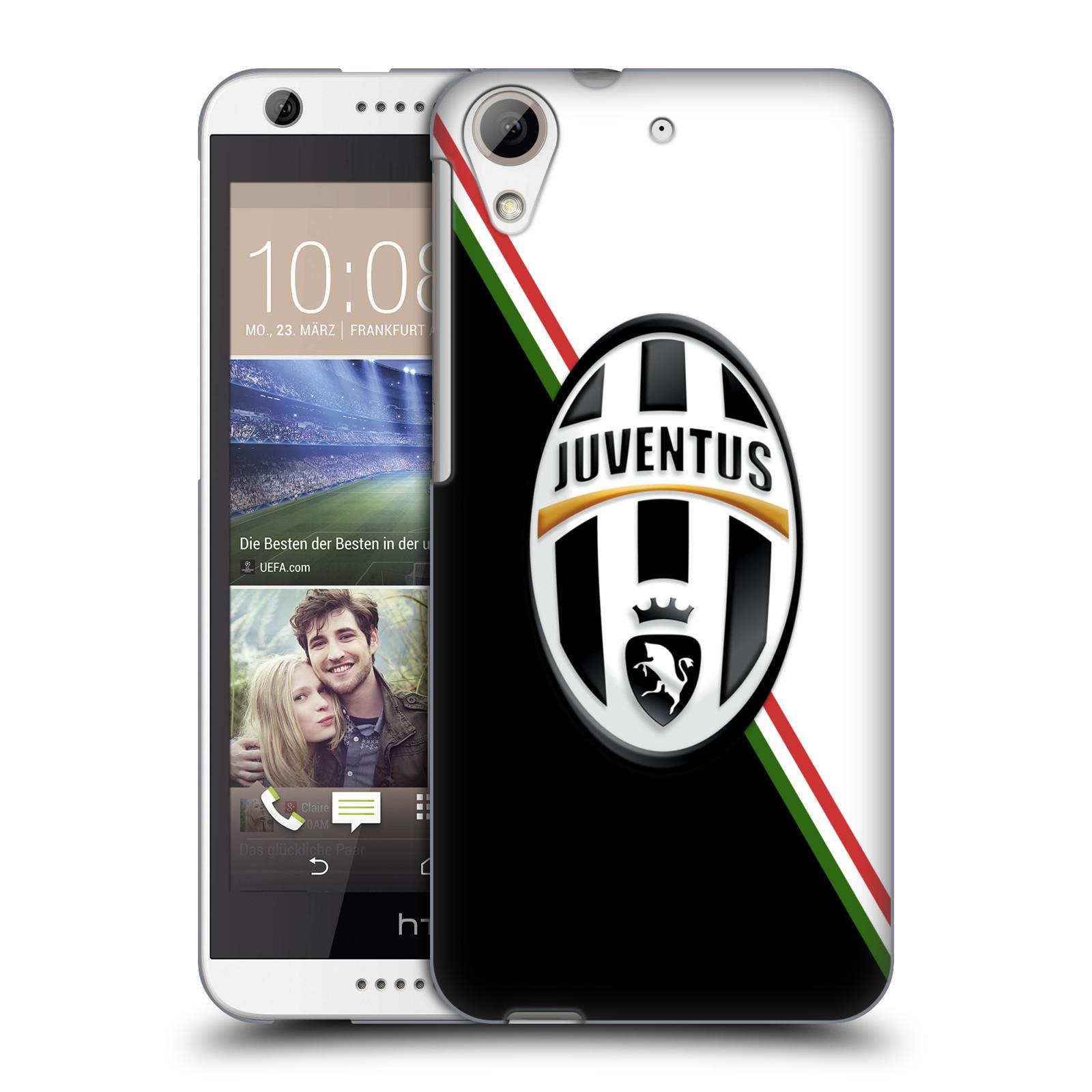 Plastové pouzdro na mobil HTC Desire 626 / 626G HEAD CASE Juventus FC - Black and White (Plastový kryt či obal na mobilní telefon Juventus FC Official pro HTC Desire 626G Dual SIM a HTC Desire 626)