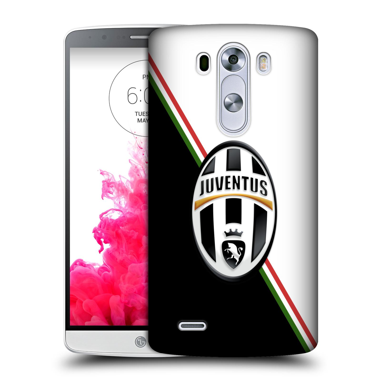 Plastové pouzdro na mobil LG G3 HEAD CASE Juventus FC - Black and White (Plastový kryt či obal na mobilní telefon Juventus FC Official pro LG G3)