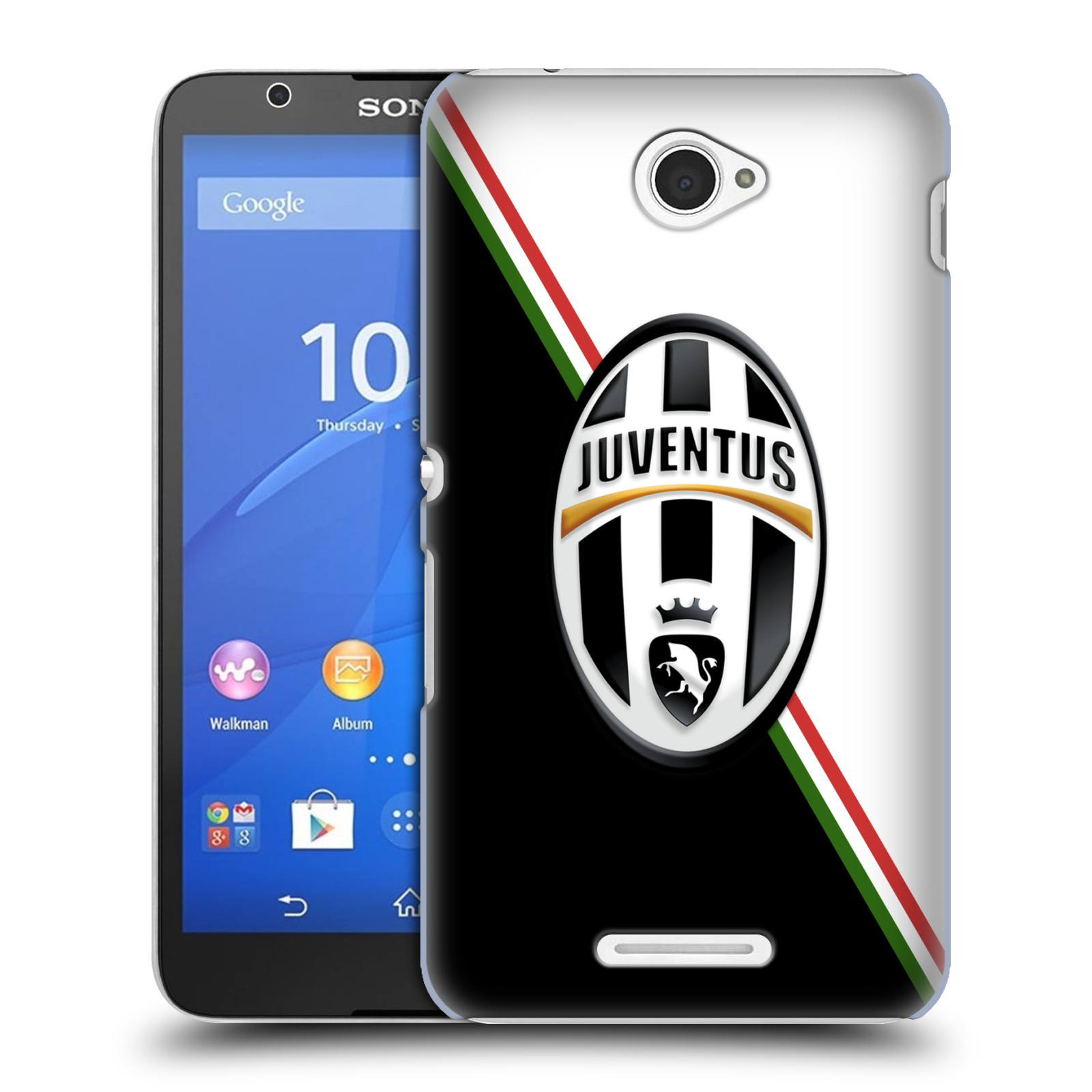 Plastové pouzdro na mobil Sony Xperia E4 E2105 HEAD CASE Juventus FC - Black and White (Plastový kryt či obal na mobilní telefon Juventus FC Official pro Sony Xperia E4 a E4 Dual SIM)