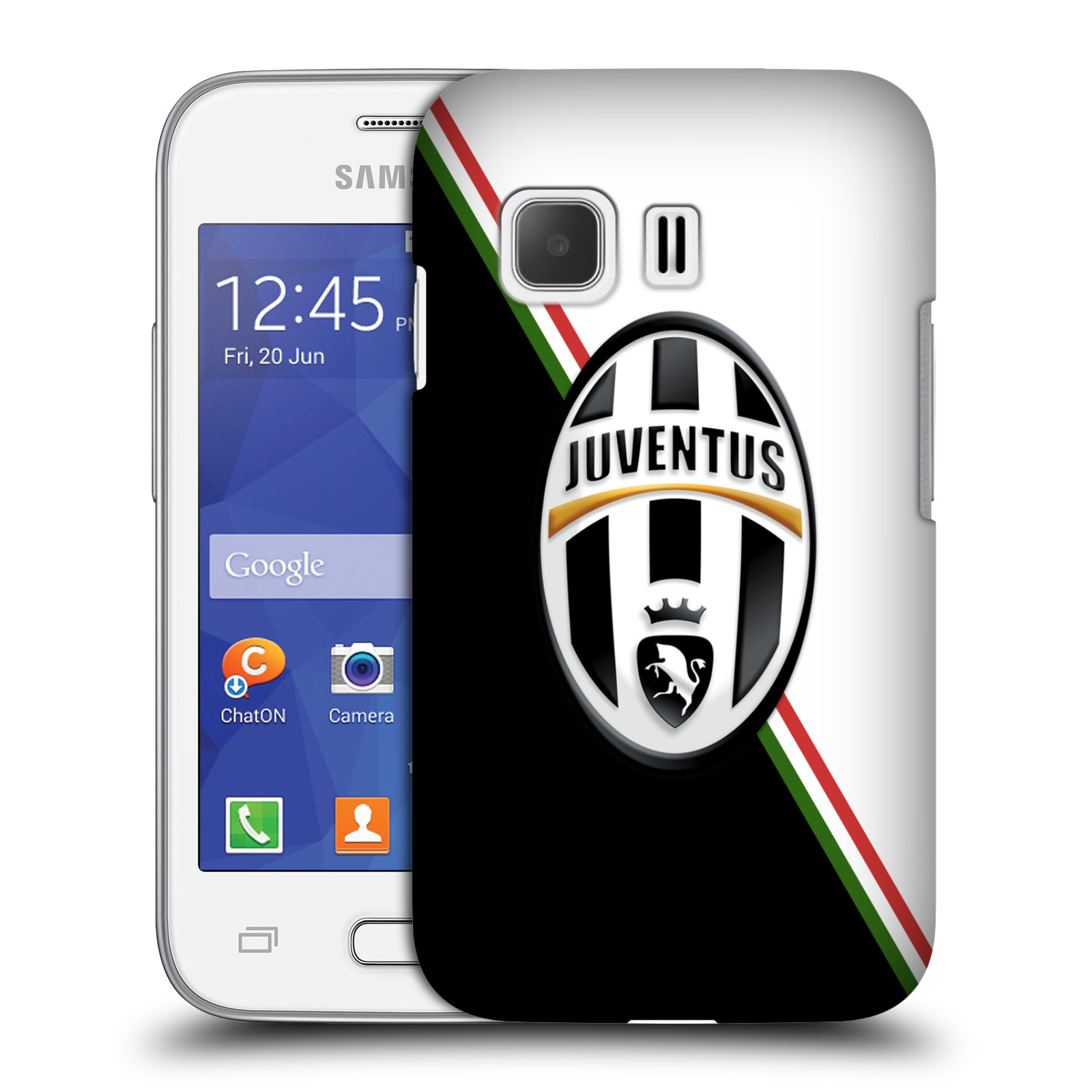 Plastové pouzdro na mobil Samsung Galaxy Young 2 HEAD CASE Juventus FC - Black and White (Plastový kryt či obal na mobilní telefon Juventus FC Official pro Samsung Galaxy Young 2 SM-G130)