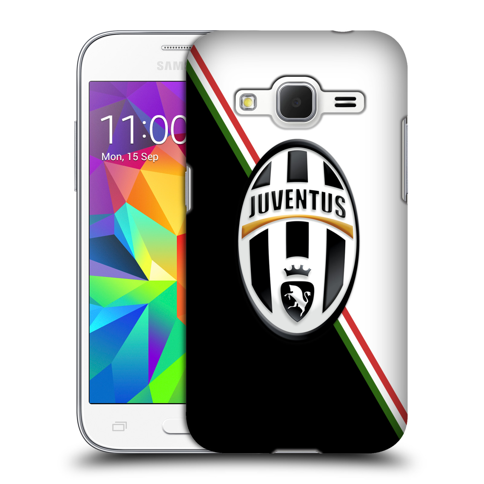 Plastové pouzdro na mobil Samsung Galaxy Core Prime LTE HEAD CASE Juventus FC - Black and White