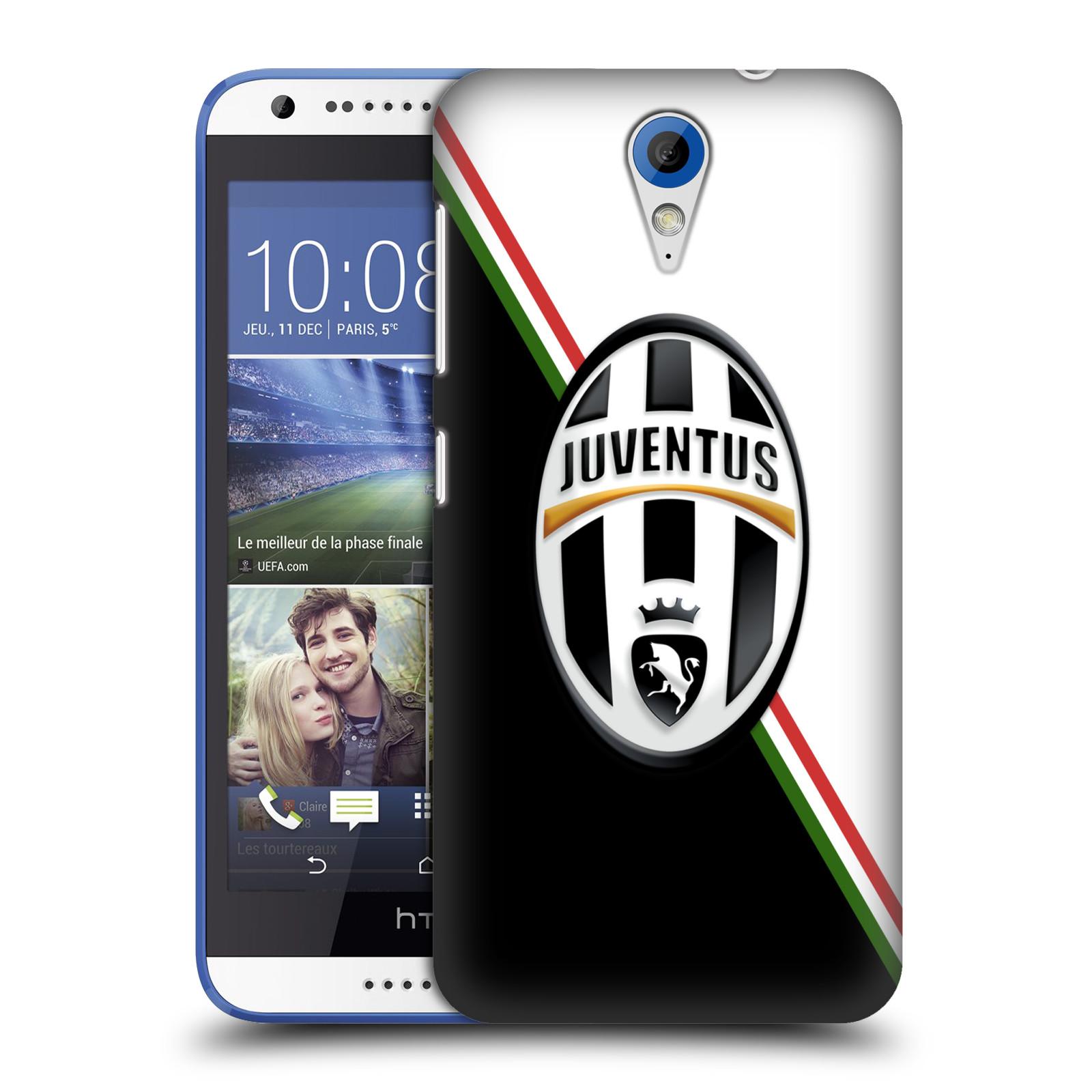 Plastové pouzdro na mobil HTC Desire 620 HEAD CASE Juventus FC - Black and White (Plastový kryt či obal na mobilní telefon Juventus FC Official pro HTC Desire 620)