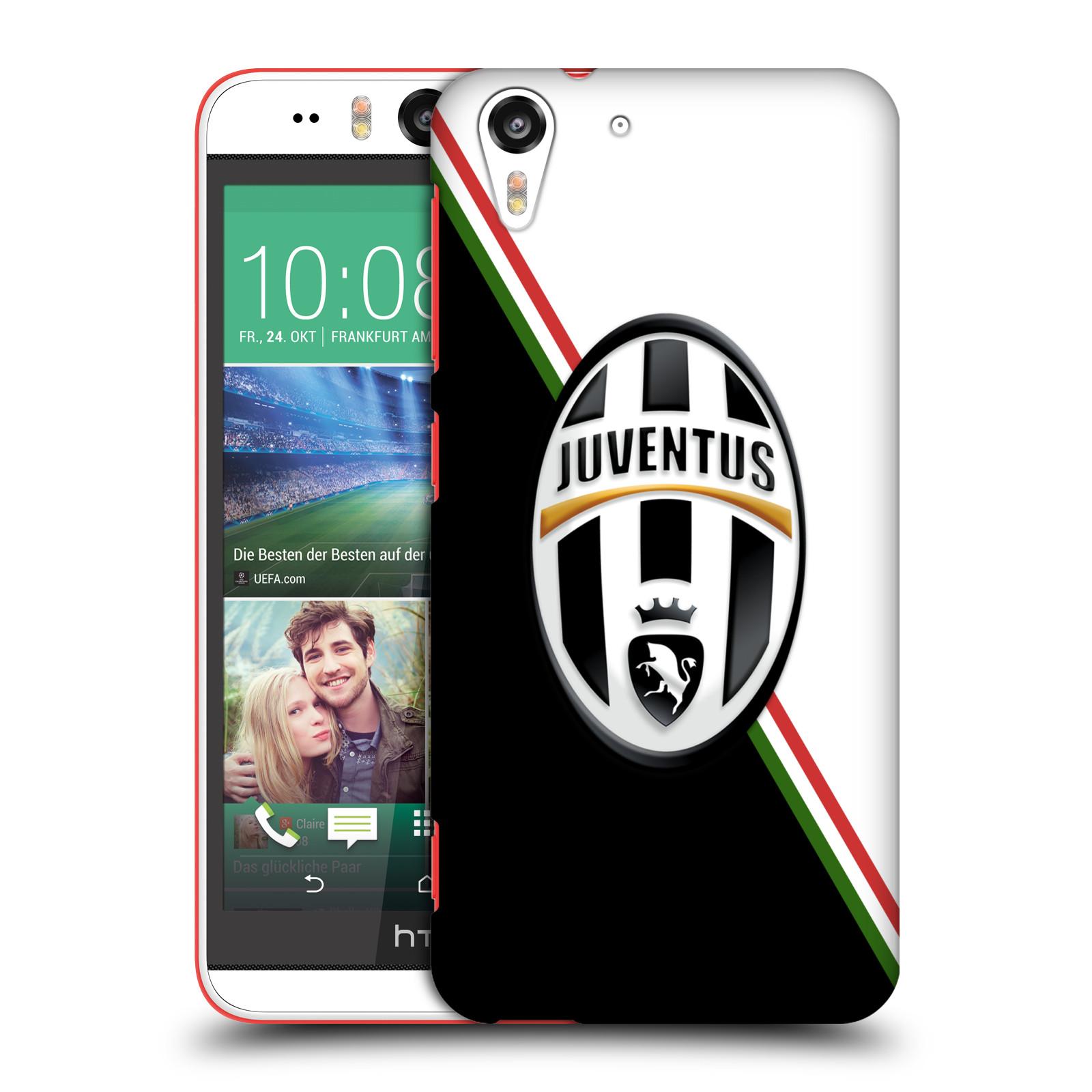 Plastové pouzdro na mobil HTC Desire EYE HEAD CASE Juventus FC - Black and White (Plastový kryt či obal na mobilní telefon Juventus FC Official pro HTC Desire EYE)