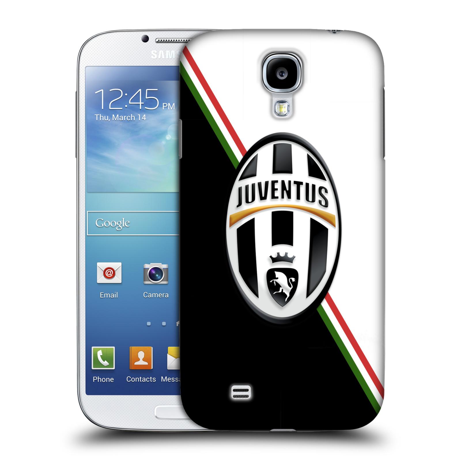 Plastové pouzdro na mobil Samsung Galaxy S4 HEAD CASE Juventus FC - Black and White (Plastový kryt či obal na mobilní telefon Juventus FC Official pro Samsung Galaxy S4 GT-i9505 / i9500)