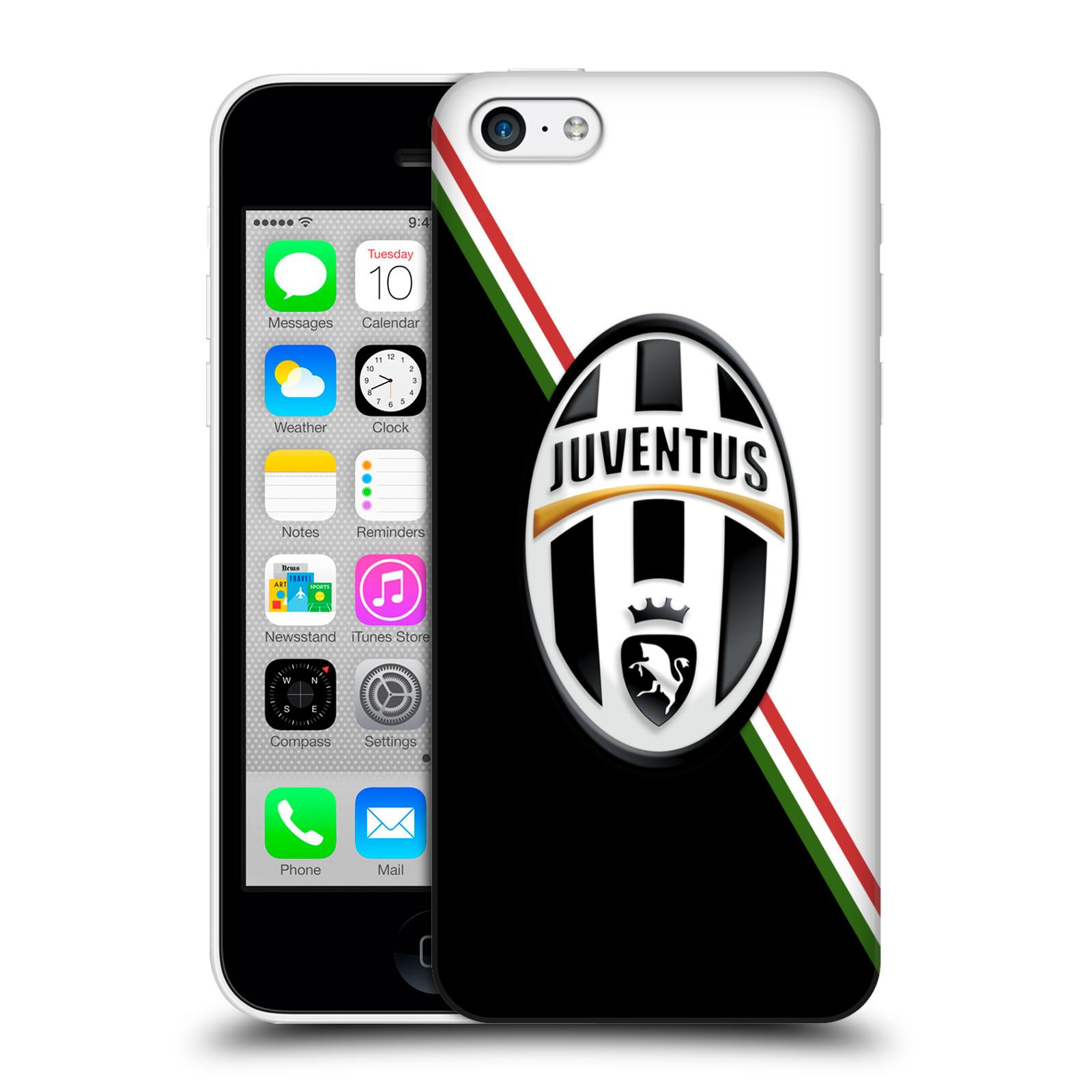 Plastové pouzdro na mobil Apple iPhone 5C HEAD CASE Juventus FC - Black and White (Plastový kryt či obal na mobilní telefon Juventus FC Official pro Apple iPhone 5C)