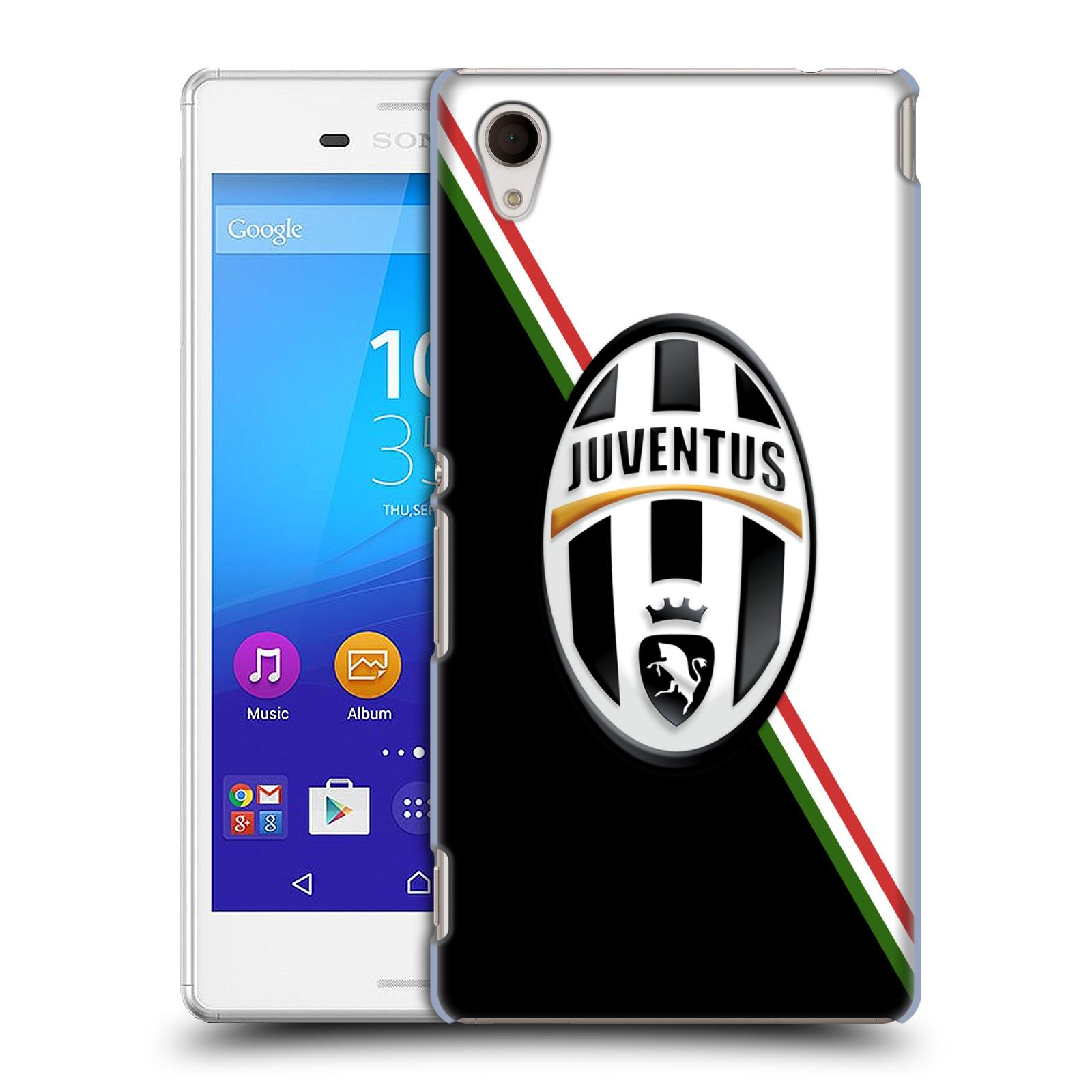 Plastové pouzdro na mobil Sony Xperia M4 Aqua E2303 HEAD CASE Juventus FC - Black and White (Plastový kryt či obal na mobilní telefon Juventus FC Official pro Sony Xperia M4 Aqua a M4 Aqua Dual SIM)