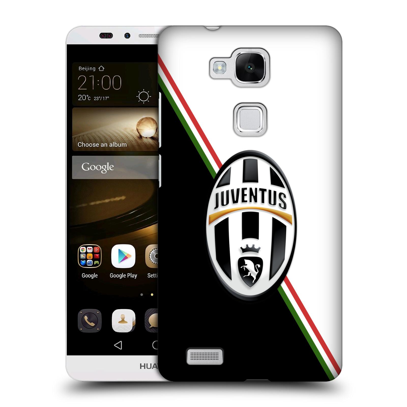 Plastové pouzdro na mobil Huawei Ascend Mate 7 HEAD CASE Juventus FC - Black and White (Plastový kryt či obal na mobilní telefon Juventus FC Official pro Huawei Ascend Mate7)