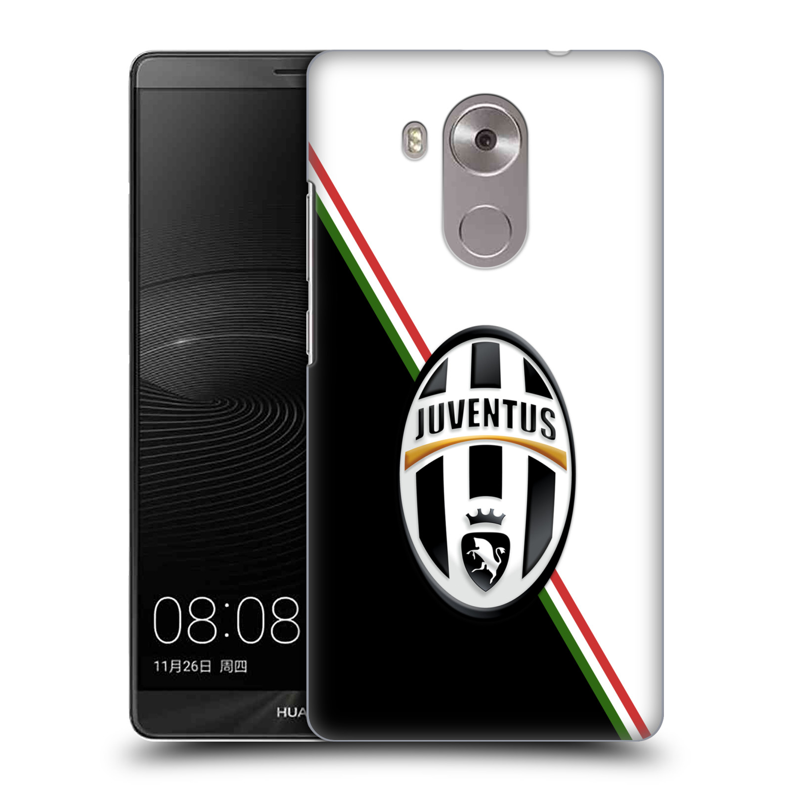 Plastové pouzdro na mobil Huawei Mate 8 HEAD CASE Juventus FC - Black and White (Plastový kryt či obal na mobilní telefon Juventus FC Official pro Huawei Ascend MATE8)
