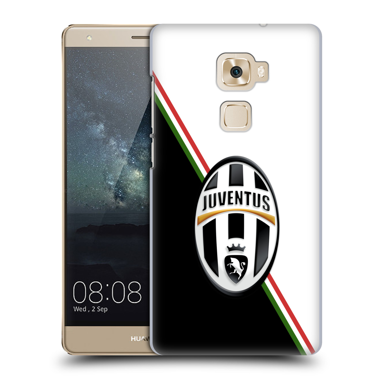 Plastové pouzdro na mobil Huawei Mate S HEAD CASE Juventus FC - Black and White (Plastový kryt či obal na mobilní telefon Juventus FC Official pro Huawei Mate S)