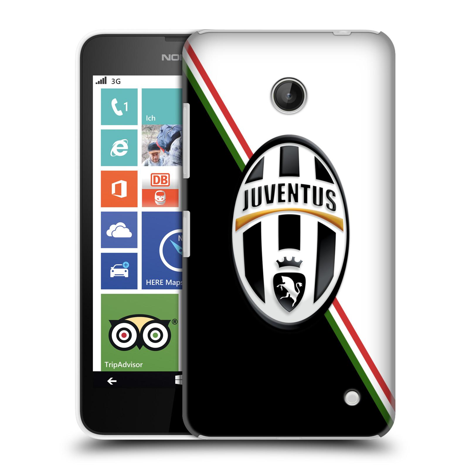 Plastové pouzdro na mobil Nokia Lumia 630 HEAD CASE Juventus FC - Black and White (Plastový kryt či obal na mobilní telefon Juventus FC Official pro Nokia Lumia 630 a Nokia Lumia 630 Dual SIM)