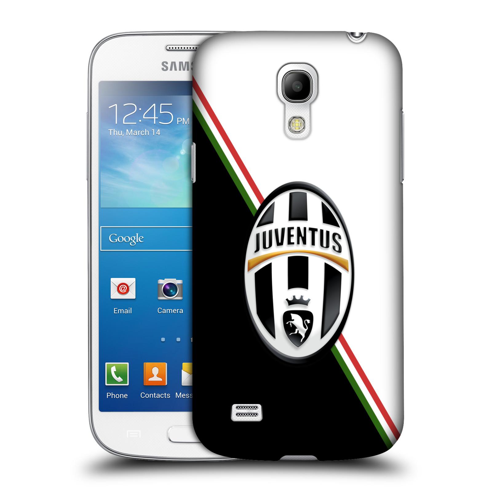 Plastové pouzdro na mobil Samsung Galaxy S4 Mini HEAD CASE Juventus FC - Black and White (Plastový kryt či obal na mobilní telefon Juventus FC Official pro Samsung Galaxy S4 Mini GT-i9195 / i9190)