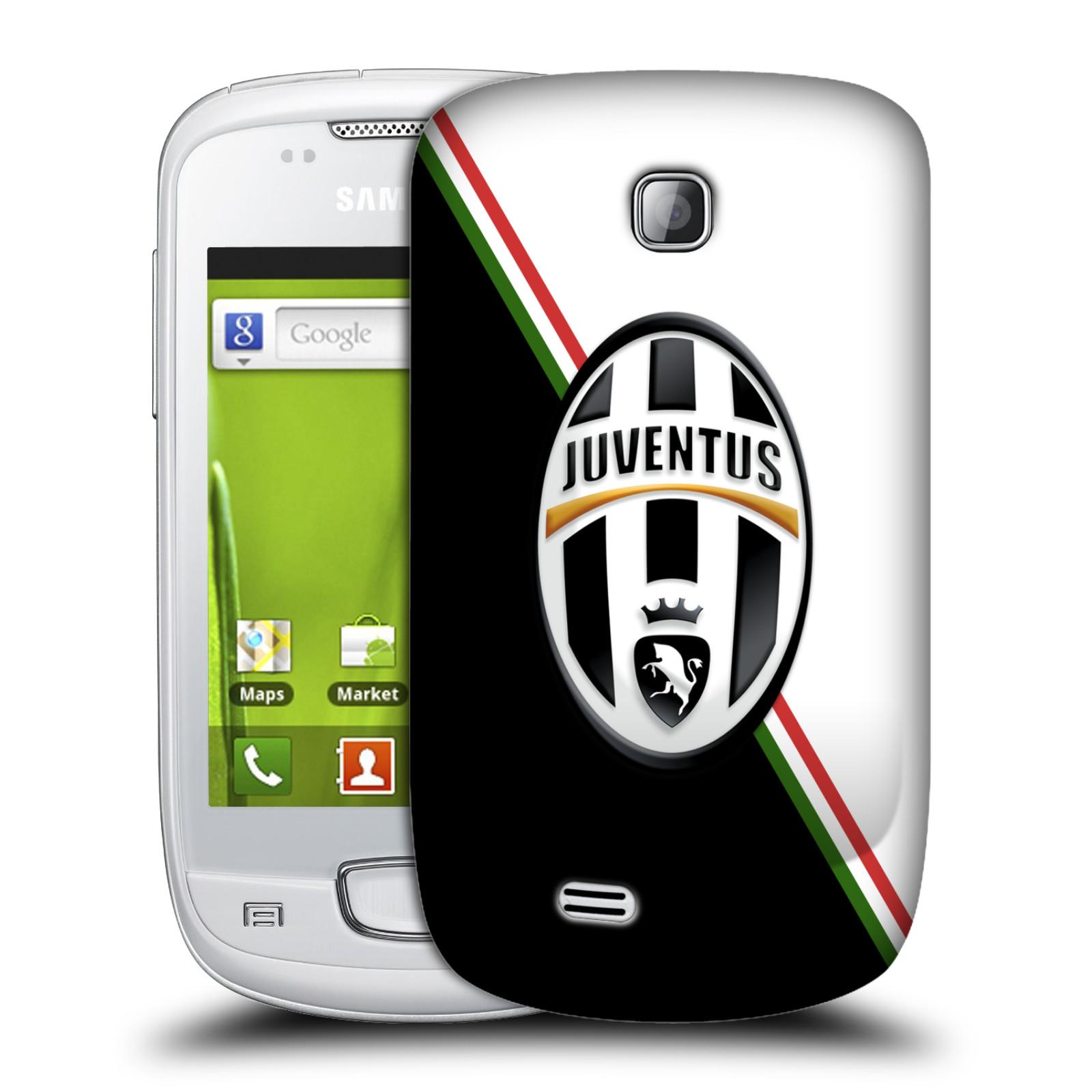 Plastové pouzdro na mobil Samsung Galaxy Mini HEAD CASE Juventus FC - Black and White (Plastový kryt či obal na mobilní telefon Juventus FC Official pro Samsung Galaxy Mini GT-S5570 / GT-S5570i)