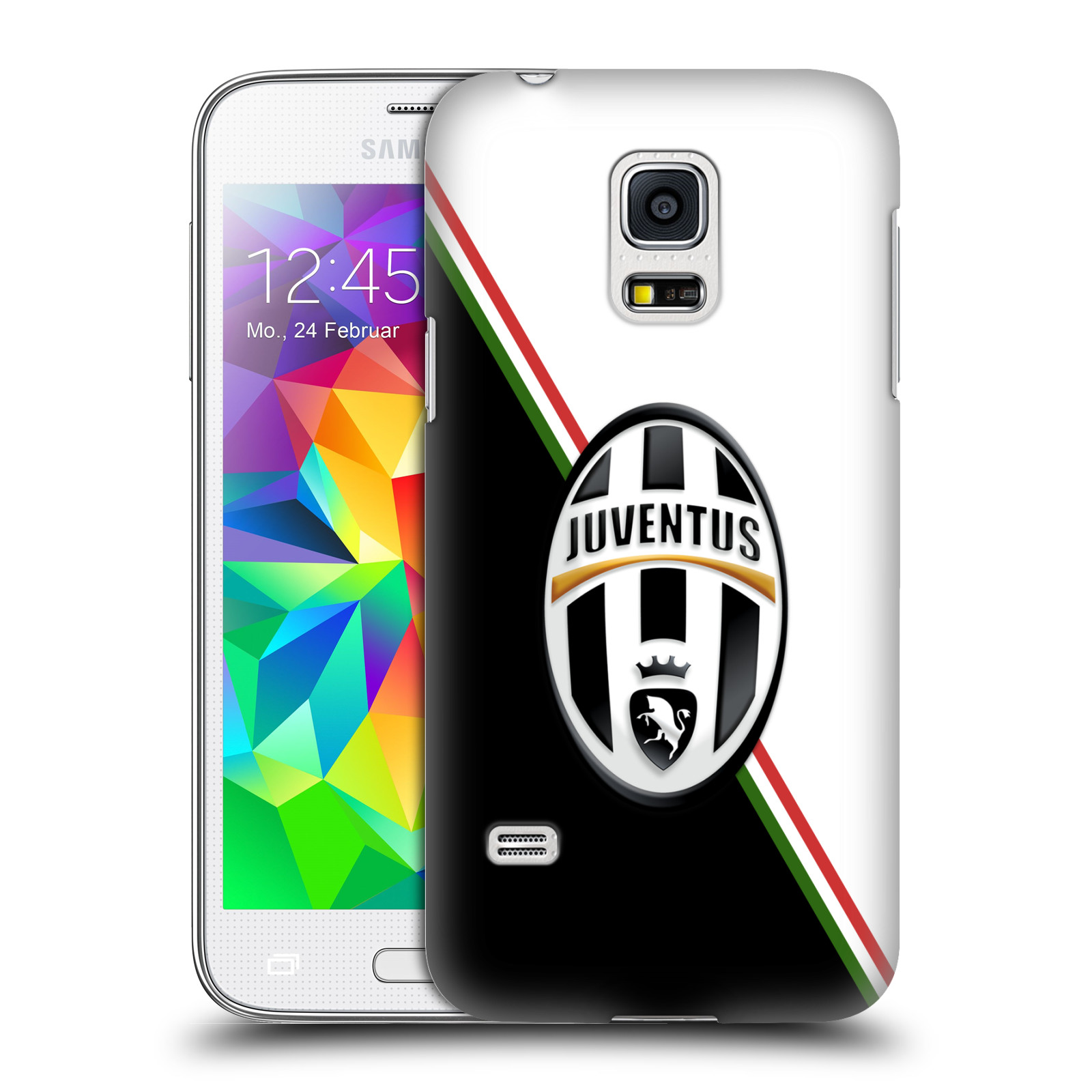 Plastové pouzdro na mobil Samsung Galaxy S5 Mini HEAD CASE Juventus FC - Black and White (Plastový kryt či obal na mobilní telefon Juventus FC Official pro Samsung Galaxy S5 Mini SM-G800F)