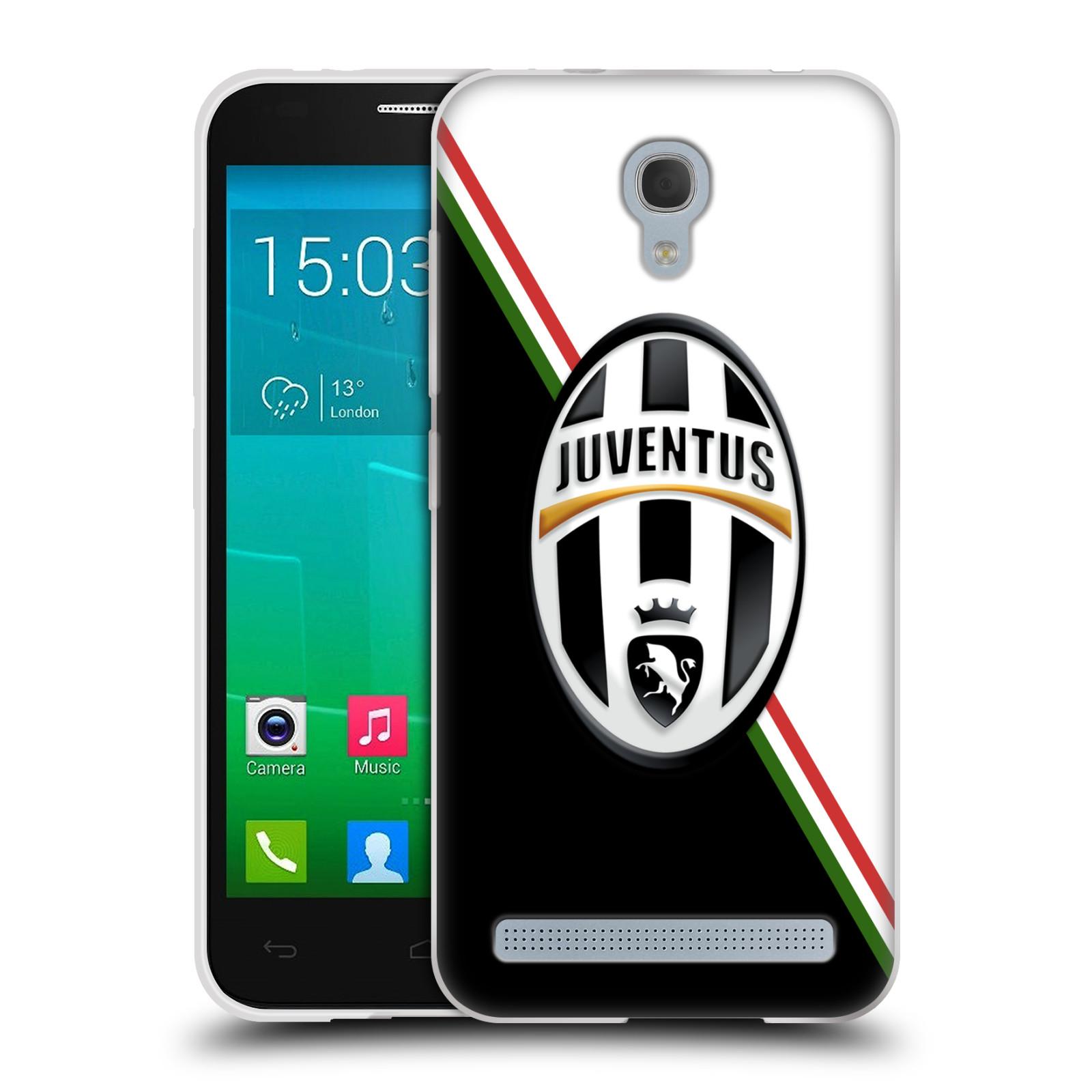 Silikonové pouzdro na mobil Alcatel One Touch Idol 2 Mini S 6036Y HEAD CASE Juventus FC - Black and White (Silikonový kryt či obal na mobilní telefon Juventus FC Official pro Alcatel Idol 2 Mini S OT-6036Y)