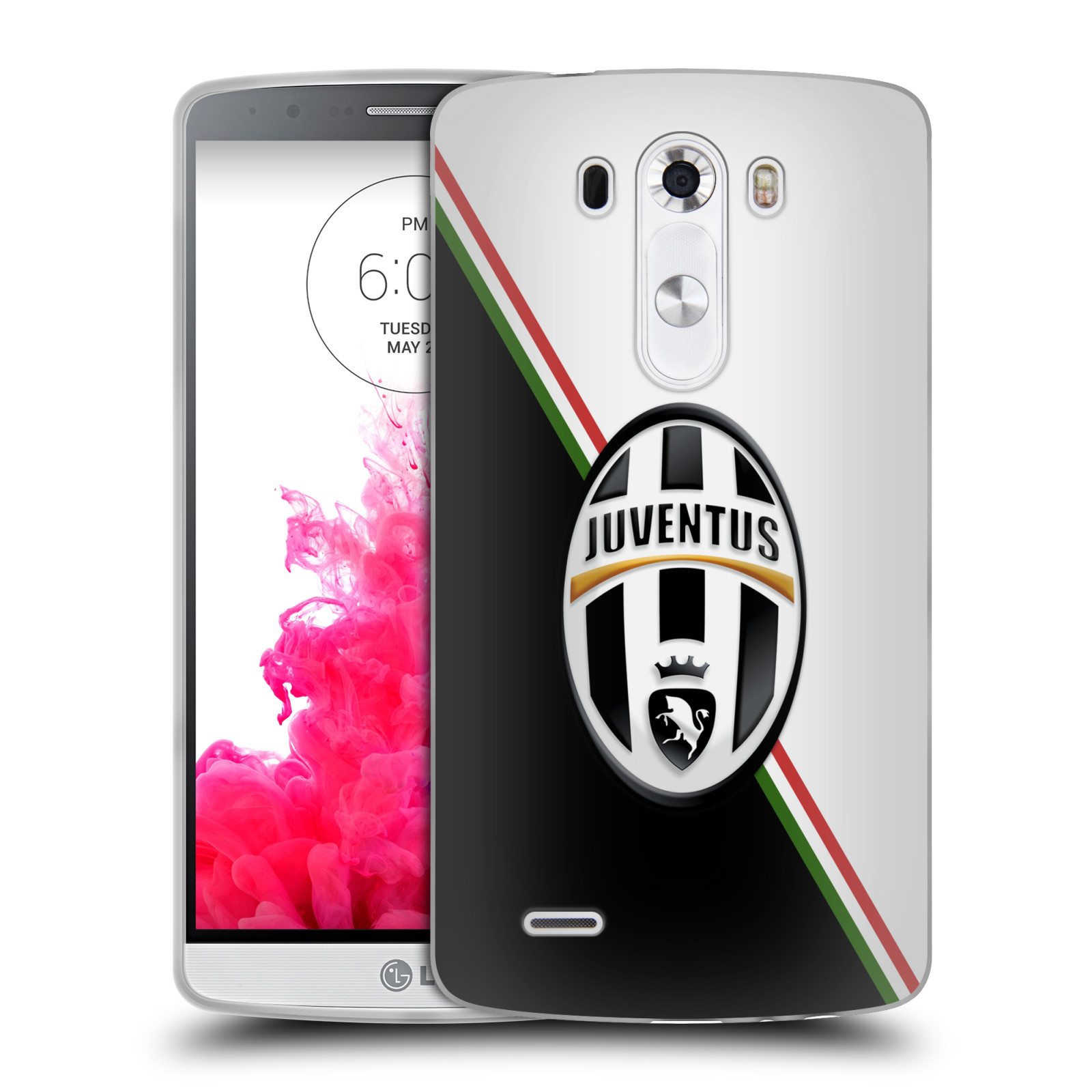 Silikonové pouzdro na mobil LG G3 HEAD CASE Juventus FC - Black and White (Silikonový kryt či obal na mobilní telefon Juventus FC Official pro LG G3)