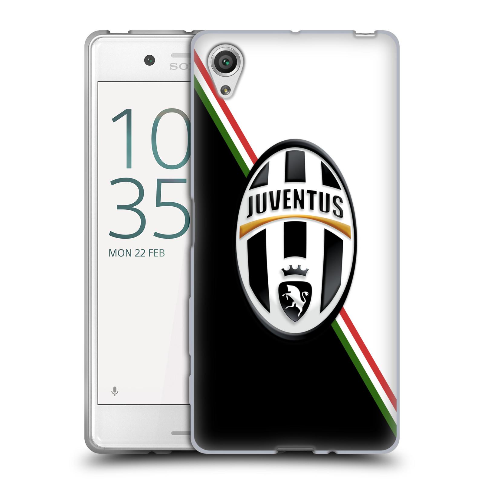 Silikonové pouzdro na mobil Sony Xperia X HEAD CASE Juventus FC - Black and White (Silikonový kryt či obal na mobilní telefon Juventus FC Official pro Sony Xperia X F5121 / Dual SIM F5122)