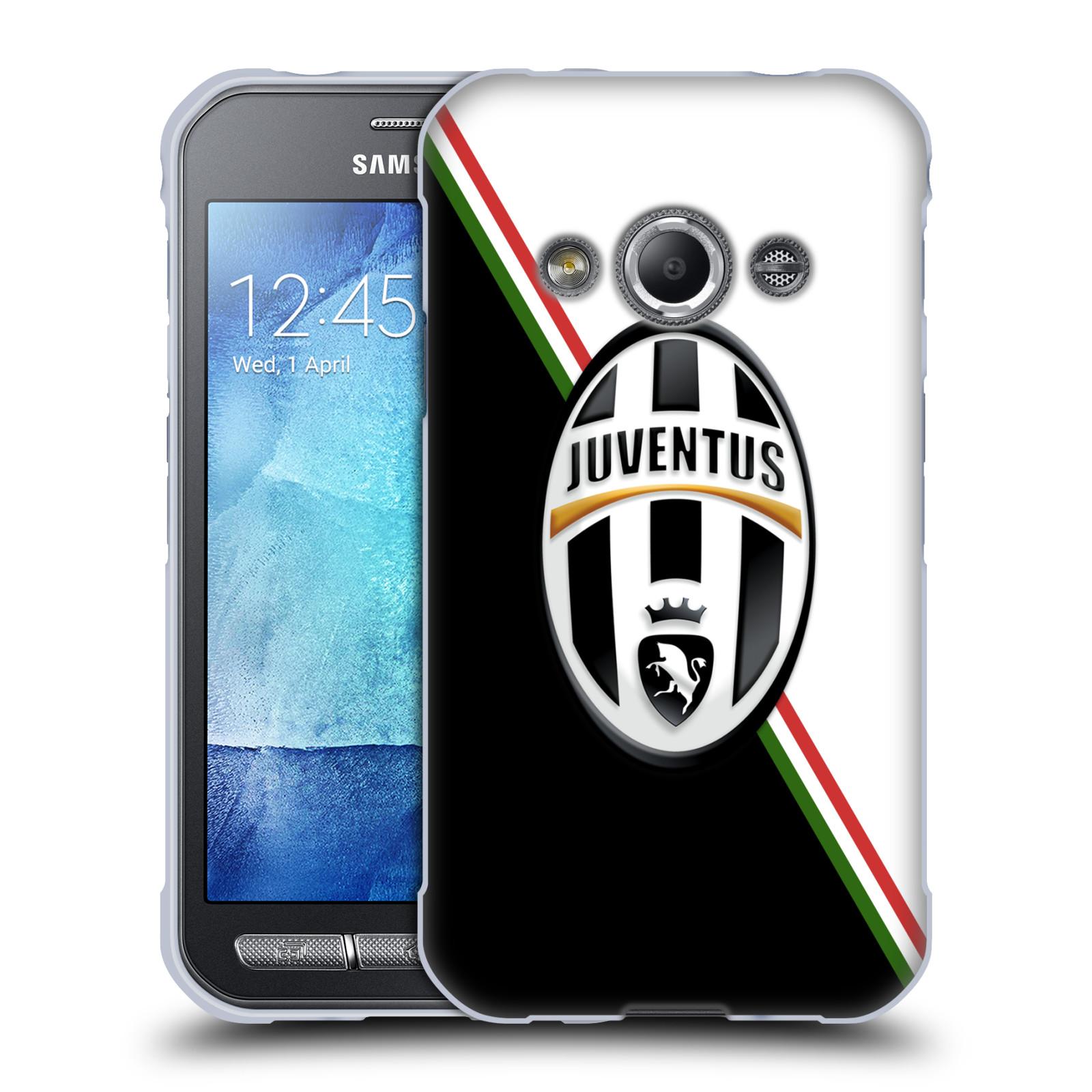 Silikonové pouzdro na mobil Samsung Galaxy Xcover 3 HEAD CASE Juventus FC - Black and White (Silikonový kryt či obal na mobilní telefon Juventus FC Official pro Samsung Galaxy Xcover 3 SM-G388F)