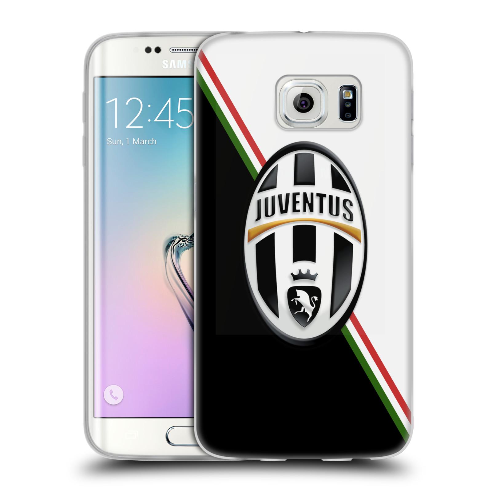 Silikonové pouzdro na mobil Samsung Galaxy S6 Edge HEAD CASE Juventus FC - Black and White (Silikonový kryt či obal na mobilní telefon Juventus FC Official pro Samsung Galaxy S6 Edge SM-G925F)