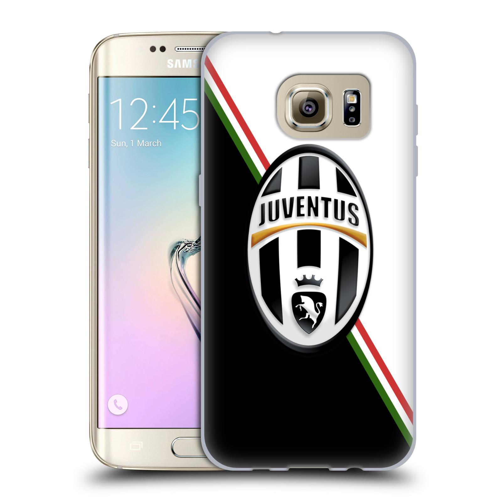 Silikonové pouzdro na mobil Samsung Galaxy S7 Edge HEAD CASE Juventus FC - Black and White (Silikonový kryt či obal na mobilní telefon Juventus FC Official pro Samsung Galaxy S7 Edge SM-G935F)