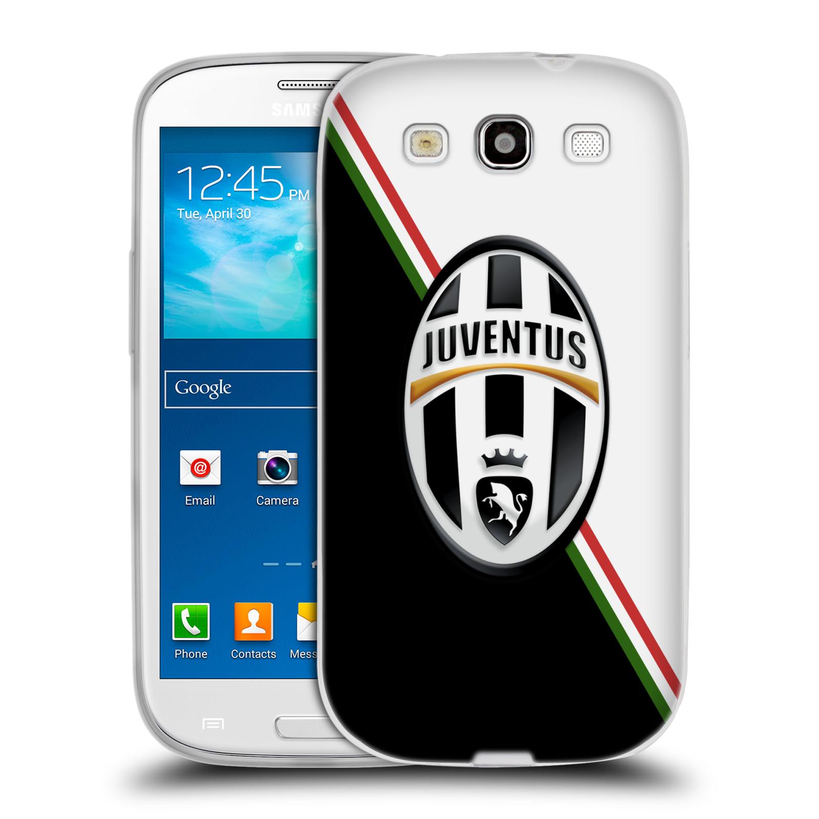 Silikonové pouzdro na mobil Samsung Galaxy S3 Neo HEAD CASE Juventus FC - Black and White (Silikonový kryt či obal na mobilní telefon Juventus FC Official pro Samsung Galaxy S3 Neo GT-i9301i)