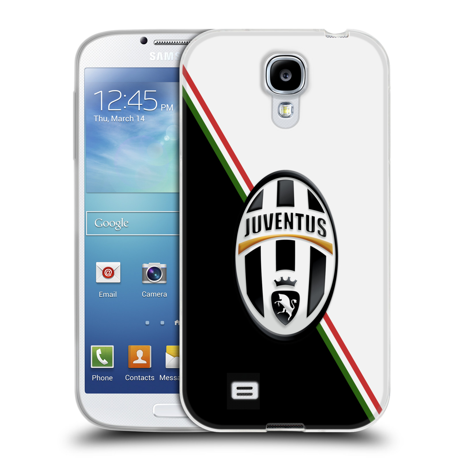 Silikonové pouzdro na mobil Samsung Galaxy S4 HEAD CASE Juventus FC - Black and White (Silikonový kryt či obal na mobilní telefon Juventus FC Official pro Samsung Galaxy S4 GT-i9505 / i9500)