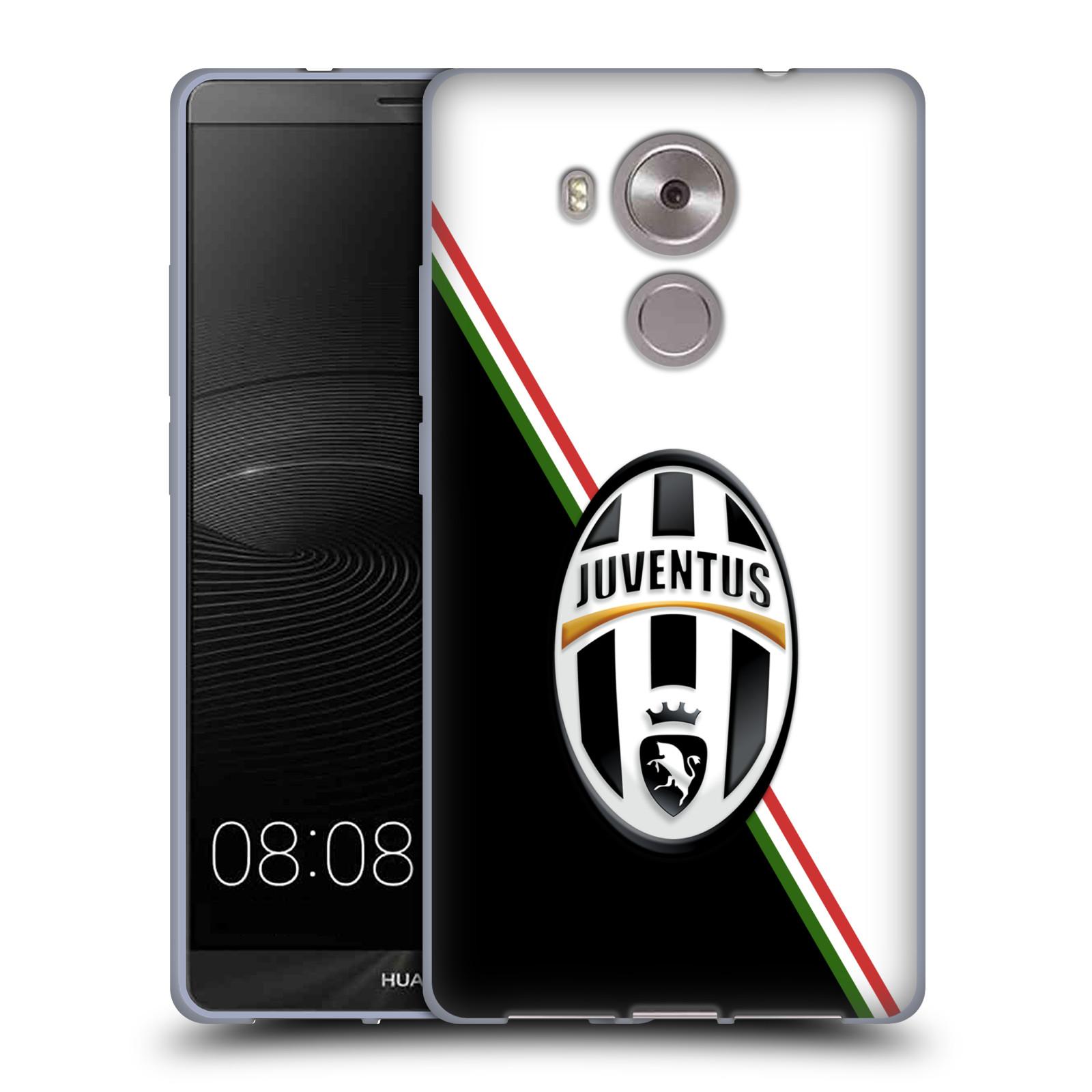 Silikonové pouzdro na mobil Huawei Ascend Mate 8 HEAD CASE Juventus FC - Black and White (Silikonový kryt či obal na mobilní telefon Juventus FC Official pro Huawei Ascend MATE8)