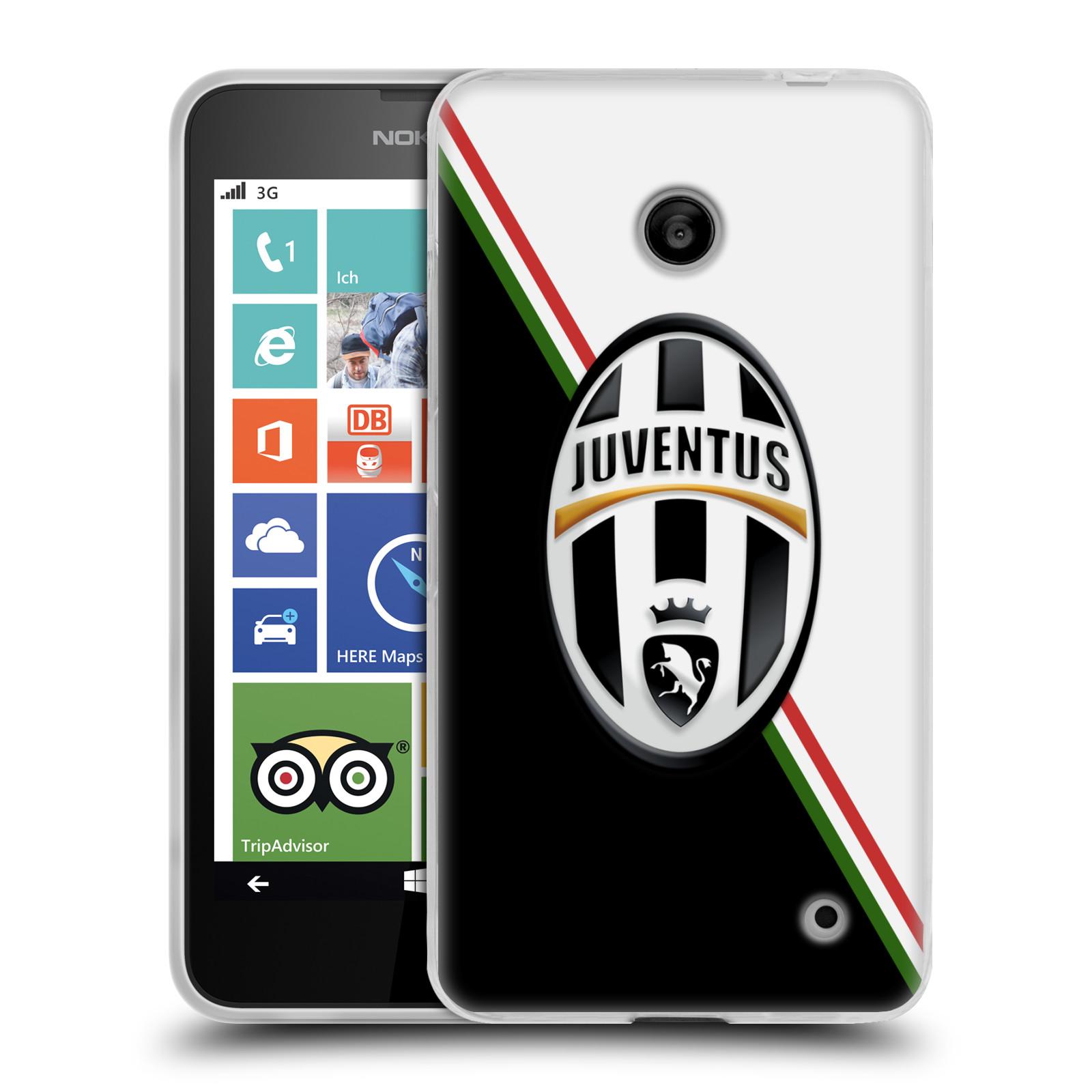 Silikonové pouzdro na mobil Nokia Lumia 630 HEAD CASE Juventus FC - Black and White (Silikonový kryt či obal na mobilní telefon Juventus FC Official pro Nokia Lumia 630 a Nokia Lumia 630 Dual SIM)