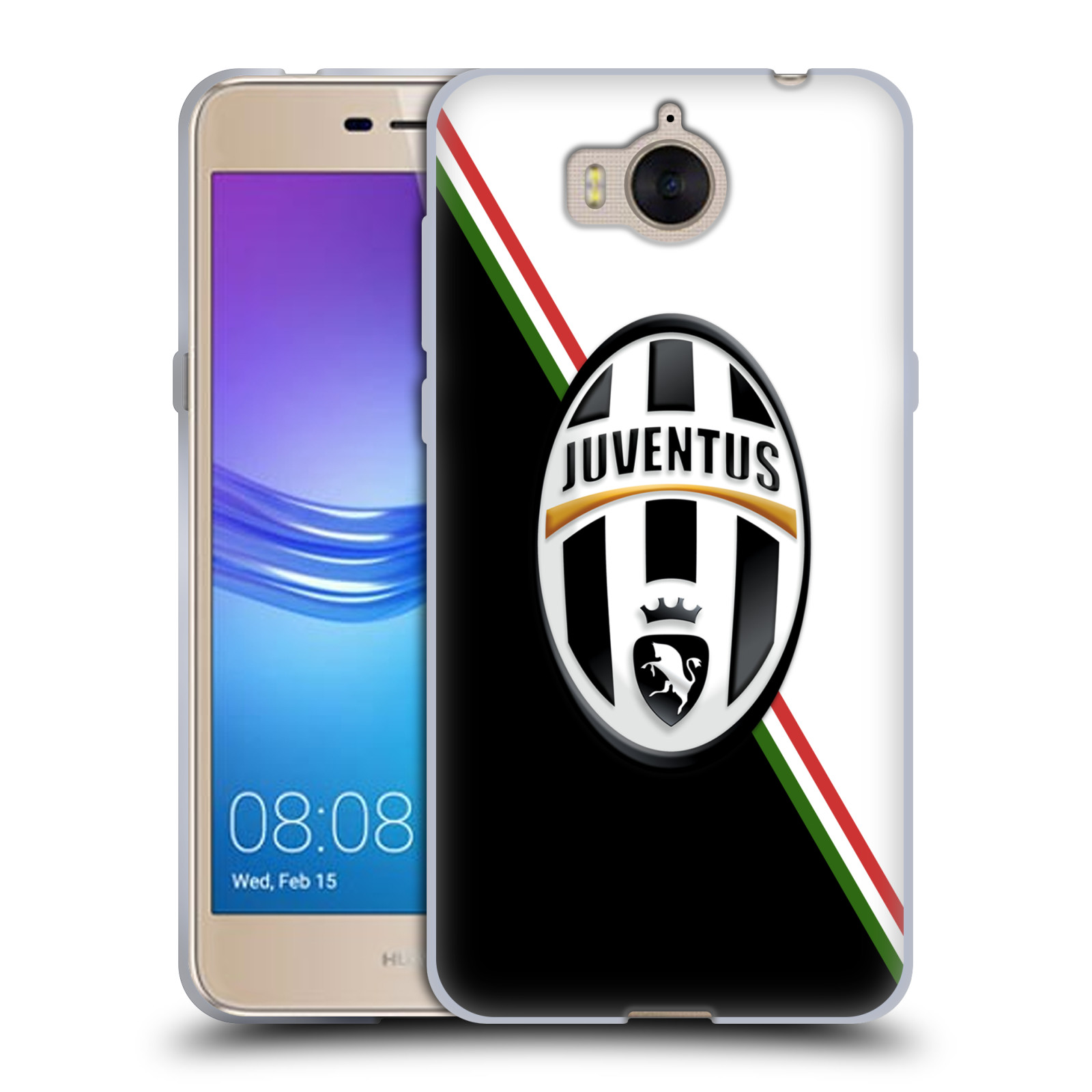 Silikonové pouzdro na mobil Huawei Y6 2017 - Head Case - Juventus FC - Black and White
