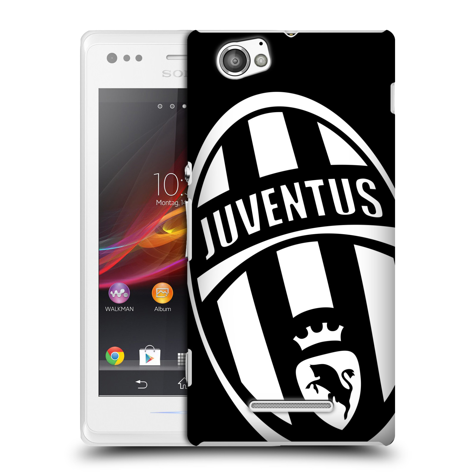 Plastové pouzdro na mobil Sony Xperia M C1905 HEAD CASE Juventus FC - Velké Logo (Plastový kryt či obal na mobilní telefon Juventus FC Official pro Sony Xperia M )