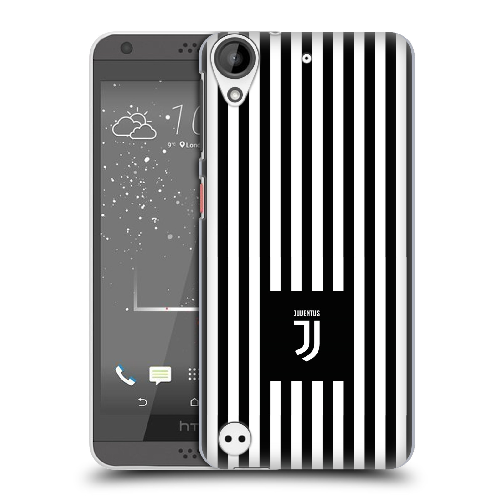 Plastové pouzdro na mobil HTC Desire 530 - Head Case - Juventus FC - Nové logo - Pruhy