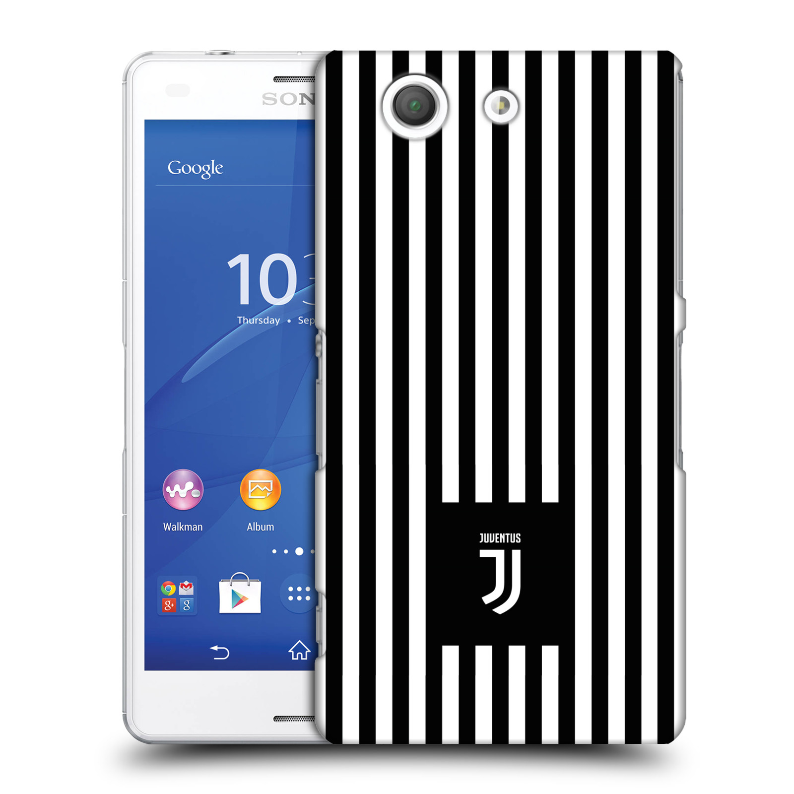 Plastové pouzdro na mobil Sony Xperia Z3 Compact D5803 - Head Case - Juventus FC - Nové logo - Pruhy