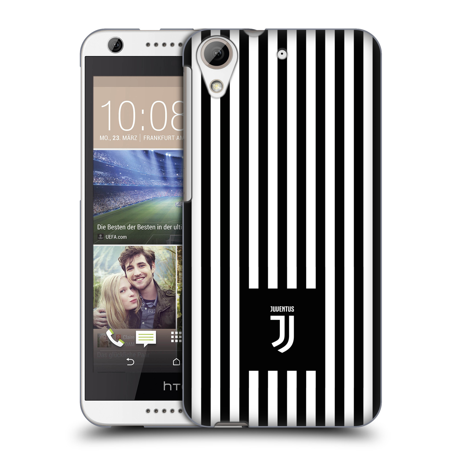 Plastové pouzdro na mobil HTC Desire 626 / 626G - Head Case - Juventus FC - Nové logo - Pruhy