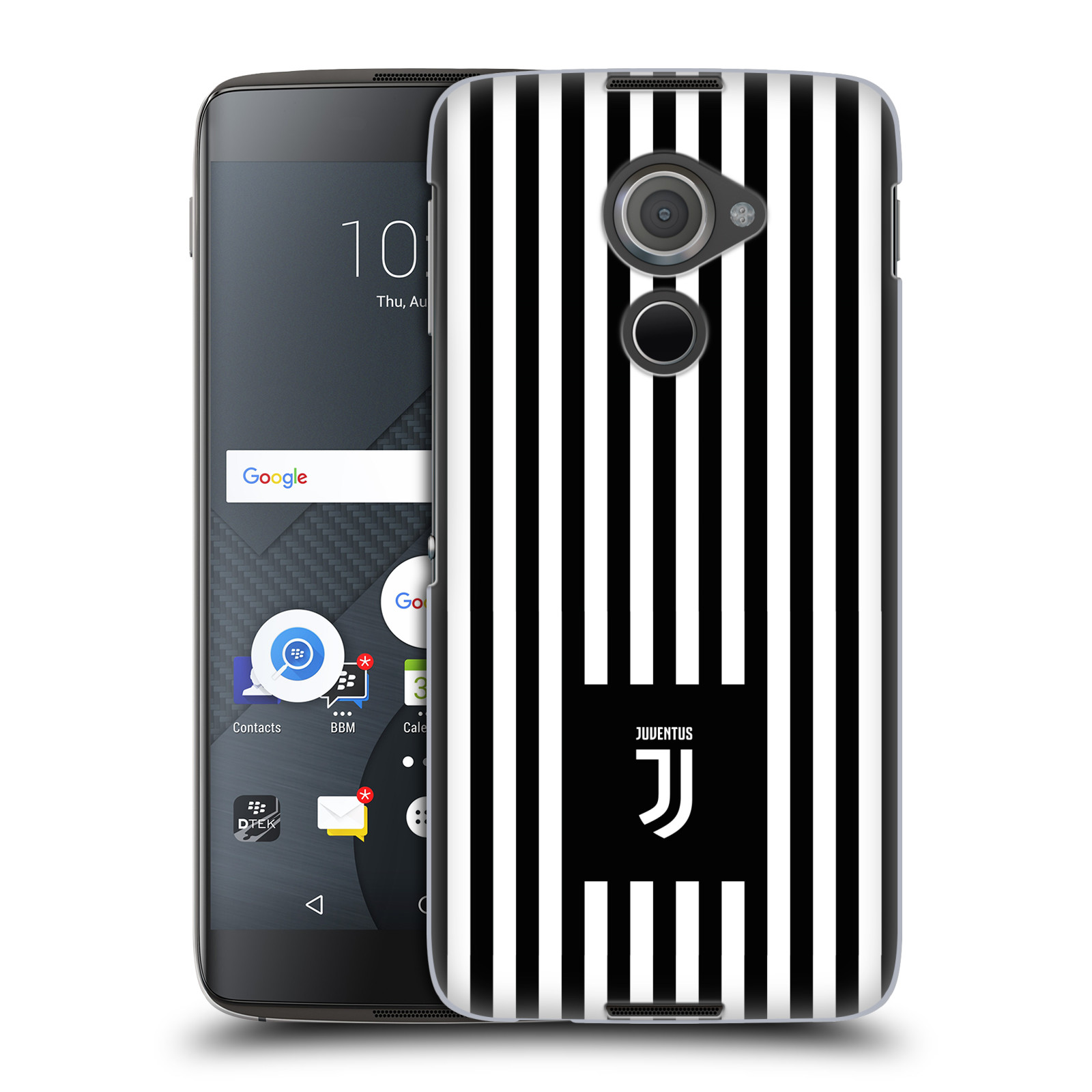 Plastové pouzdro na mobil Blackberry DTEK60 (Argon) - Head Case - Juventus FC - Nové logo - Pruhy