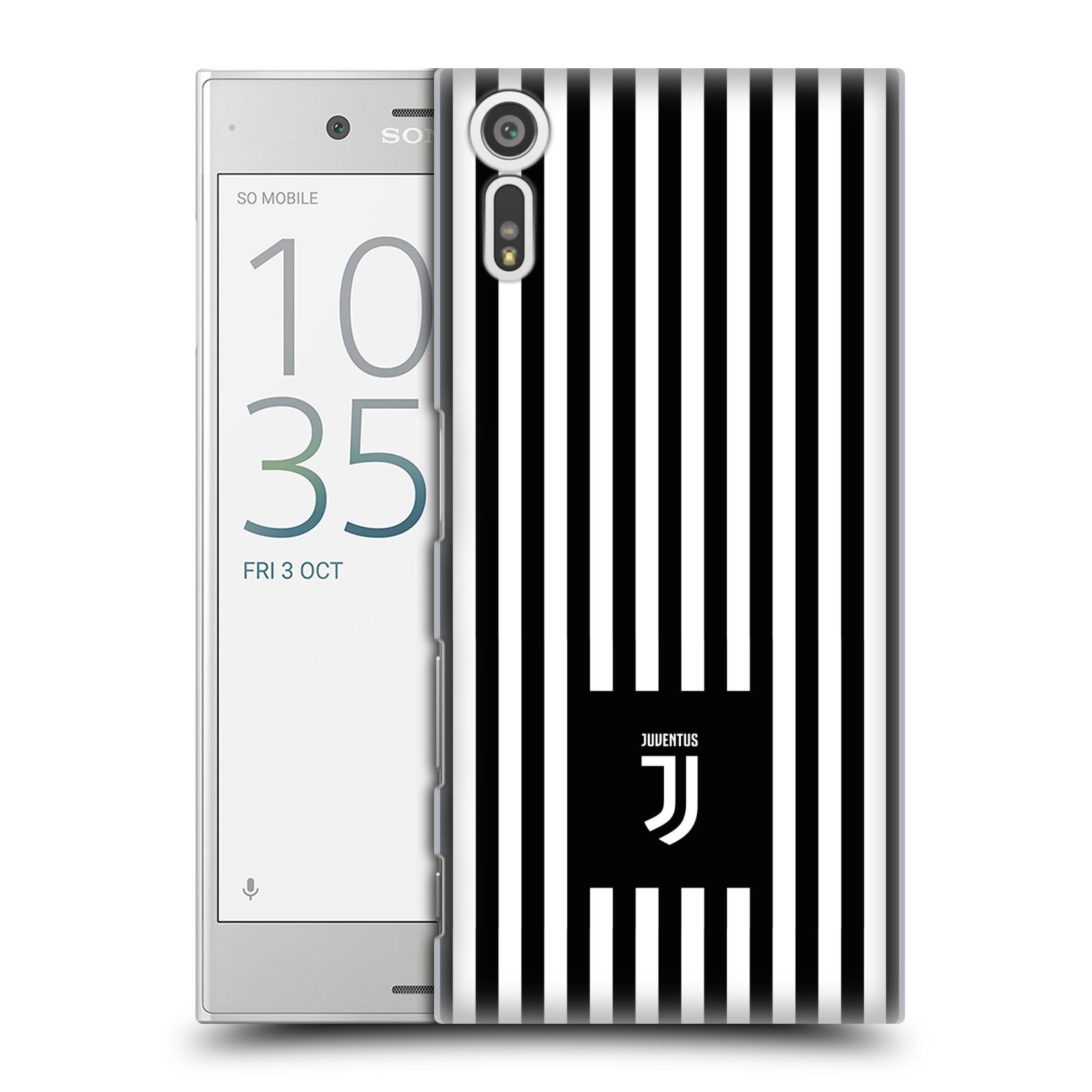 Plastové pouzdro na mobil Sony Xperia XZ - Head Case - Juventus FC - Nové logo - Pruhy (Plastový kryt či obal na mobilní telefon s motivem Juventus FC - Nové logo - Pruhy pro Sony Xperia XZ F8331 / Sony Xperia XZ Dual F8332)