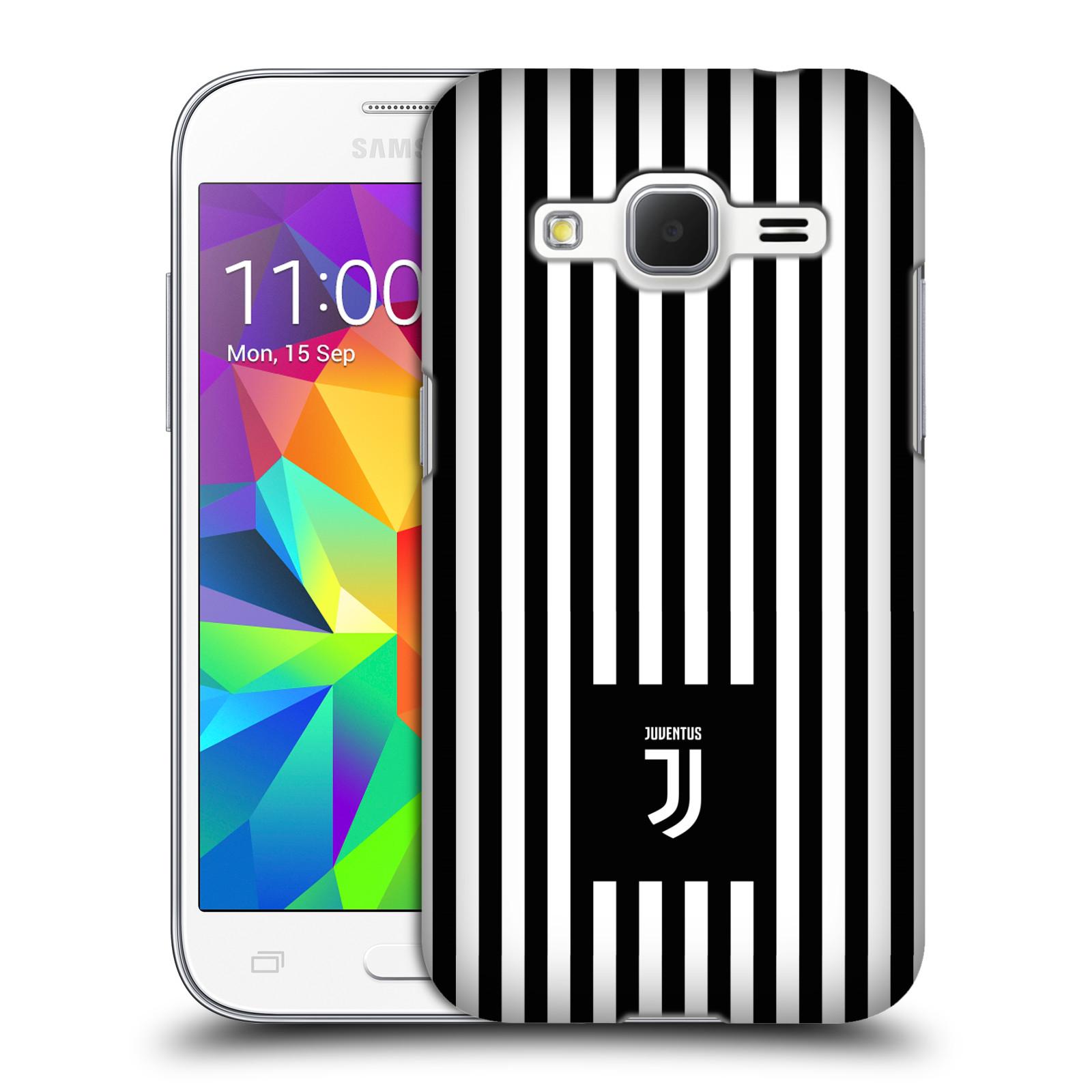 Plastové pouzdro na mobil Samsung Galaxy Core Prime VE - Head Case - Juventus FC - Nové logo - Pruhy