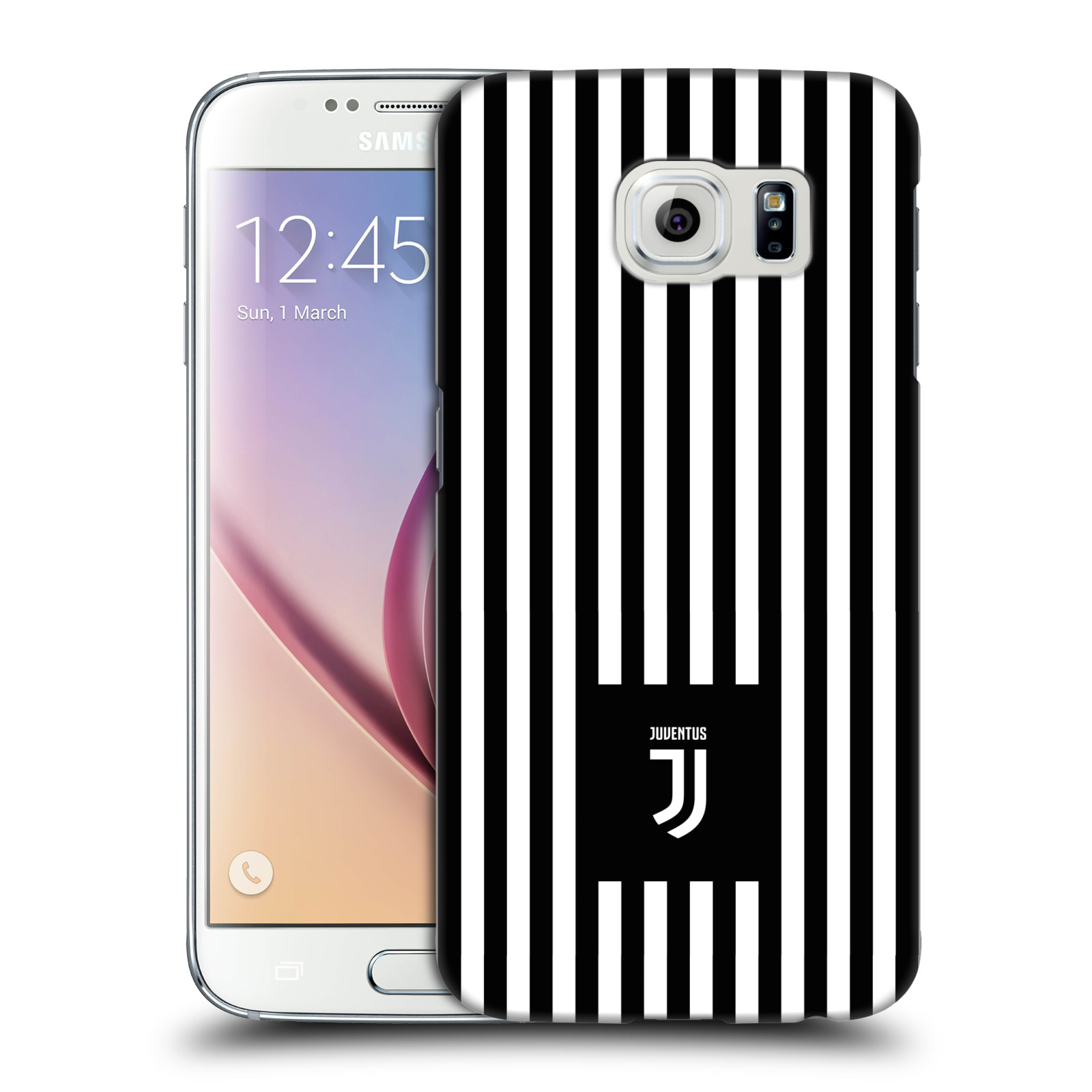 Plastové pouzdro na mobil Samsung Galaxy S6 - Head Case - Juventus FC - Nové logo - Pruhy