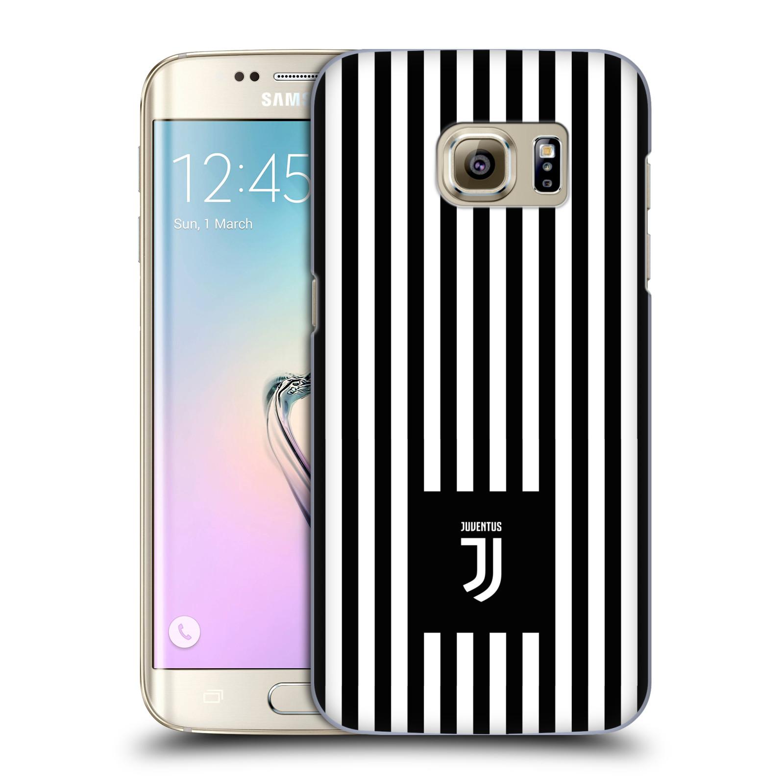 Plastové pouzdro na mobil Samsung Galaxy S7 Edge - Head Case - Juventus FC - Nové logo - Pruhy