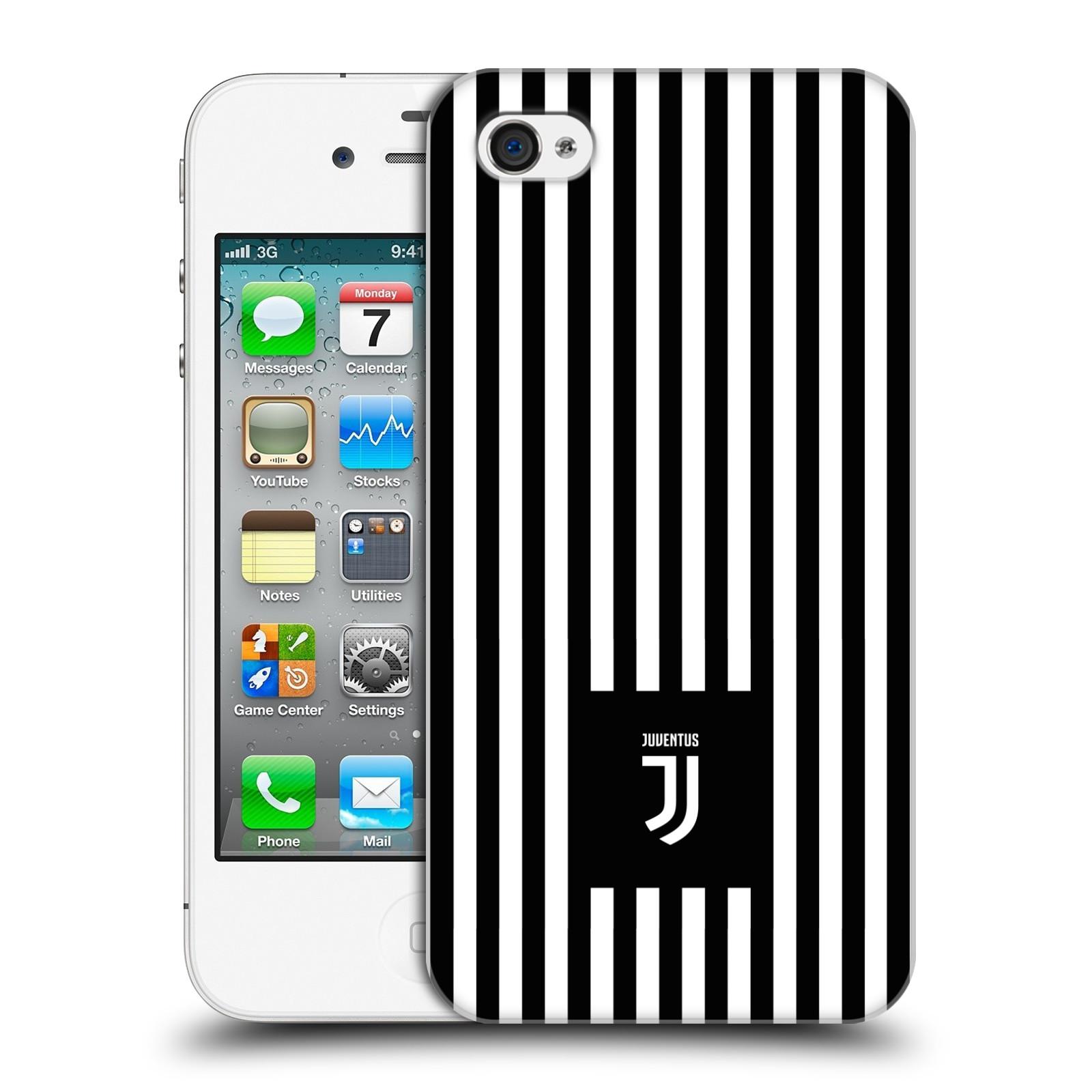 Plastové pouzdro na mobil Apple iPhone 4 a 4S - Head Case - Juventus FC - Nové logo - Pruhy