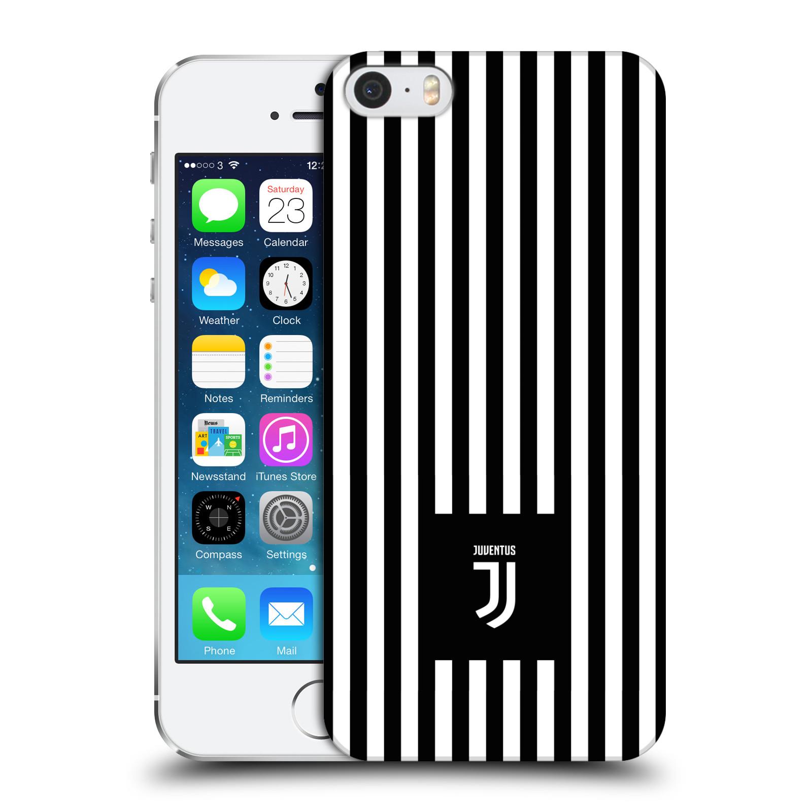 Plastové pouzdro na mobil Apple iPhone SE, 5 a 5S - Head Case - Juventus FC - Nové logo - Pruhy