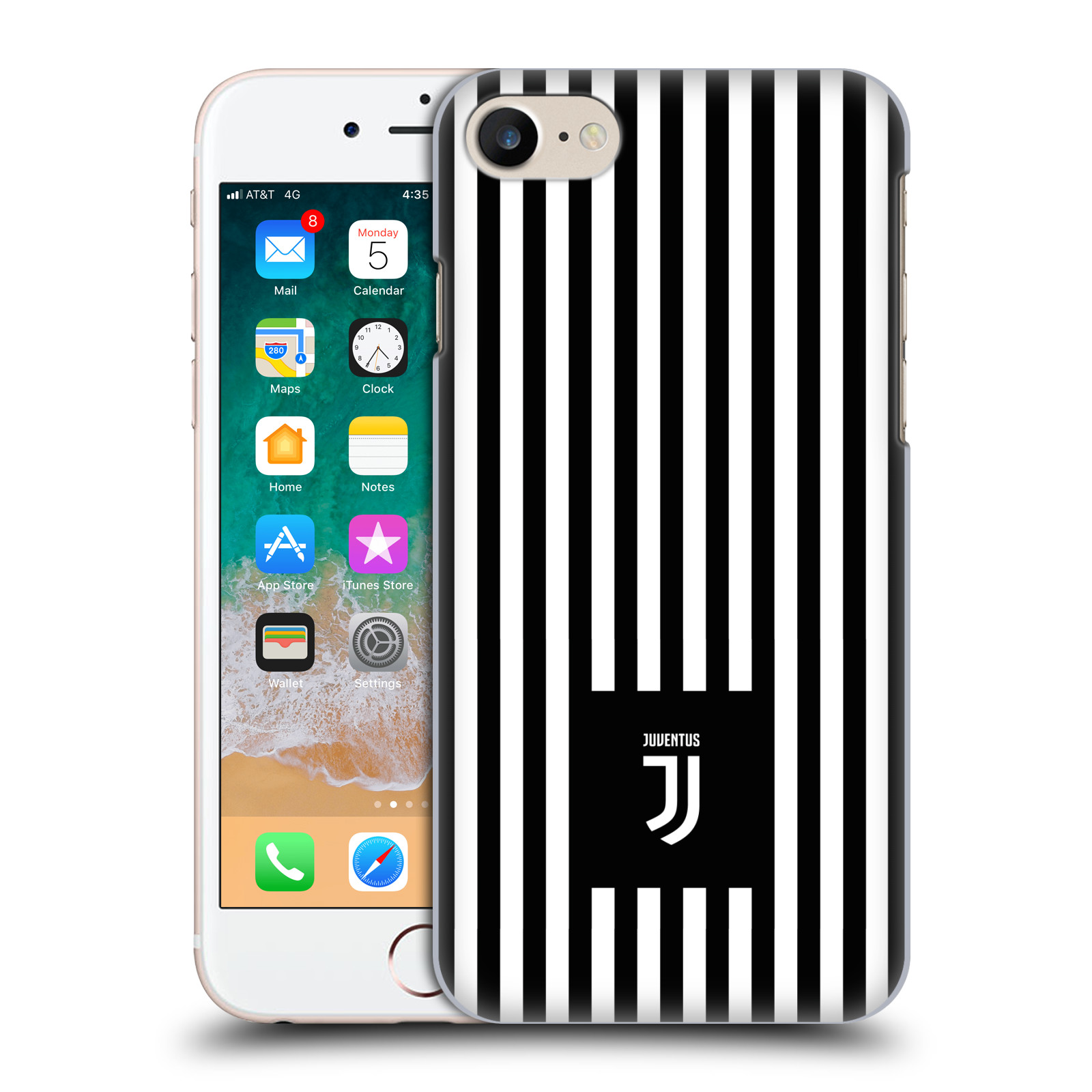 Plastové pouzdro na mobil Apple iPhone 7 - Head Case - Juventus FC - Nové logo - Pruhy
