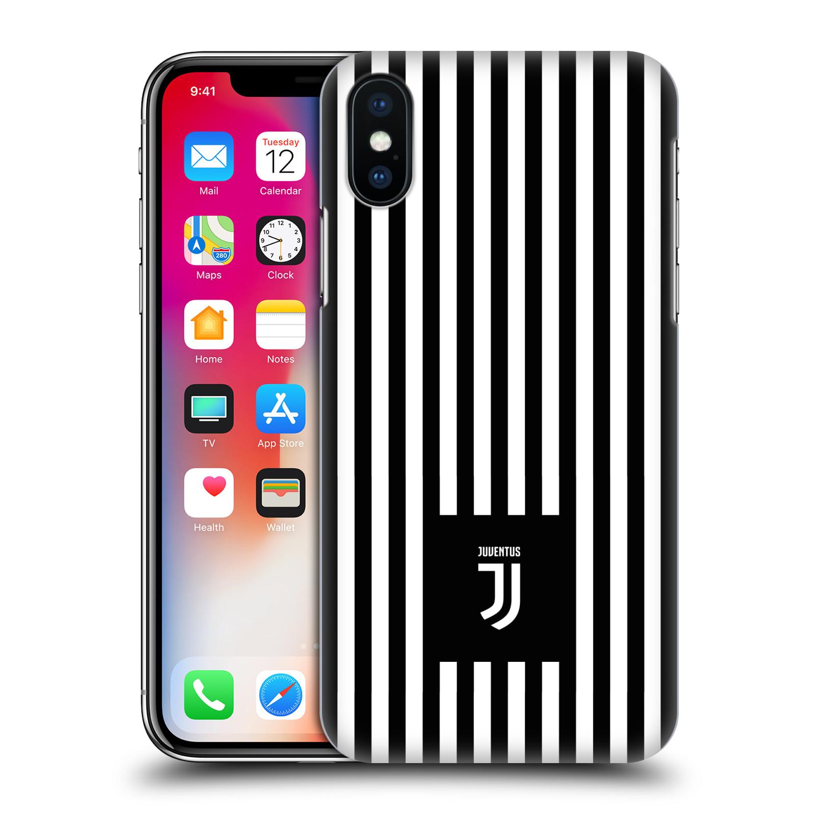 Plastové pouzdro na mobil Apple iPhone X - Head Case - Juventus FC - Nové logo - Pruhy