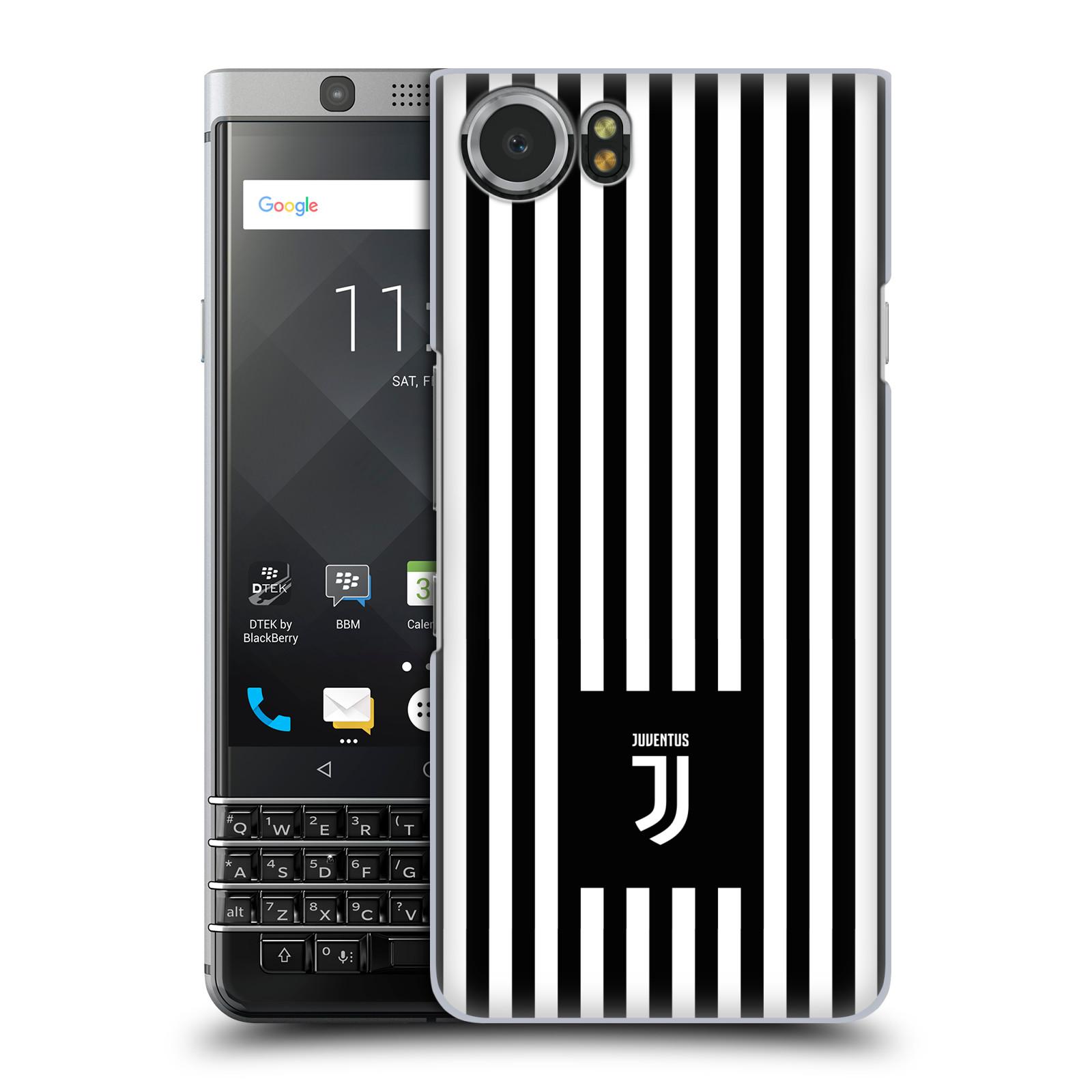 Plastové pouzdro na mobil BlackBerry KEYone - Head Case - Juventus FC - Nové logo - Pruhy