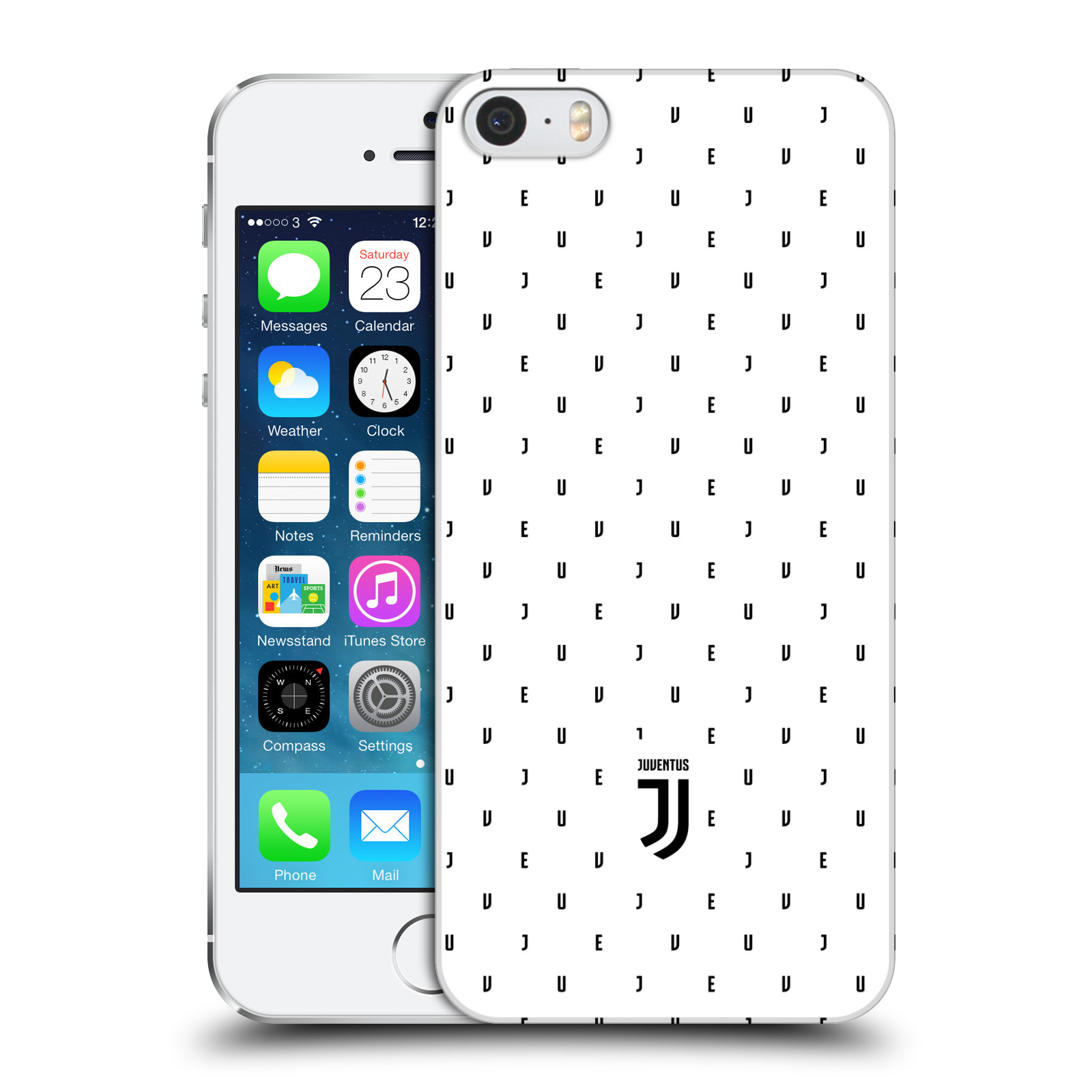 Plastové pouzdro na mobil Apple iPhone SE, 5 a 5S - Head Case - Juventus FC - Nové logo - Decentní
