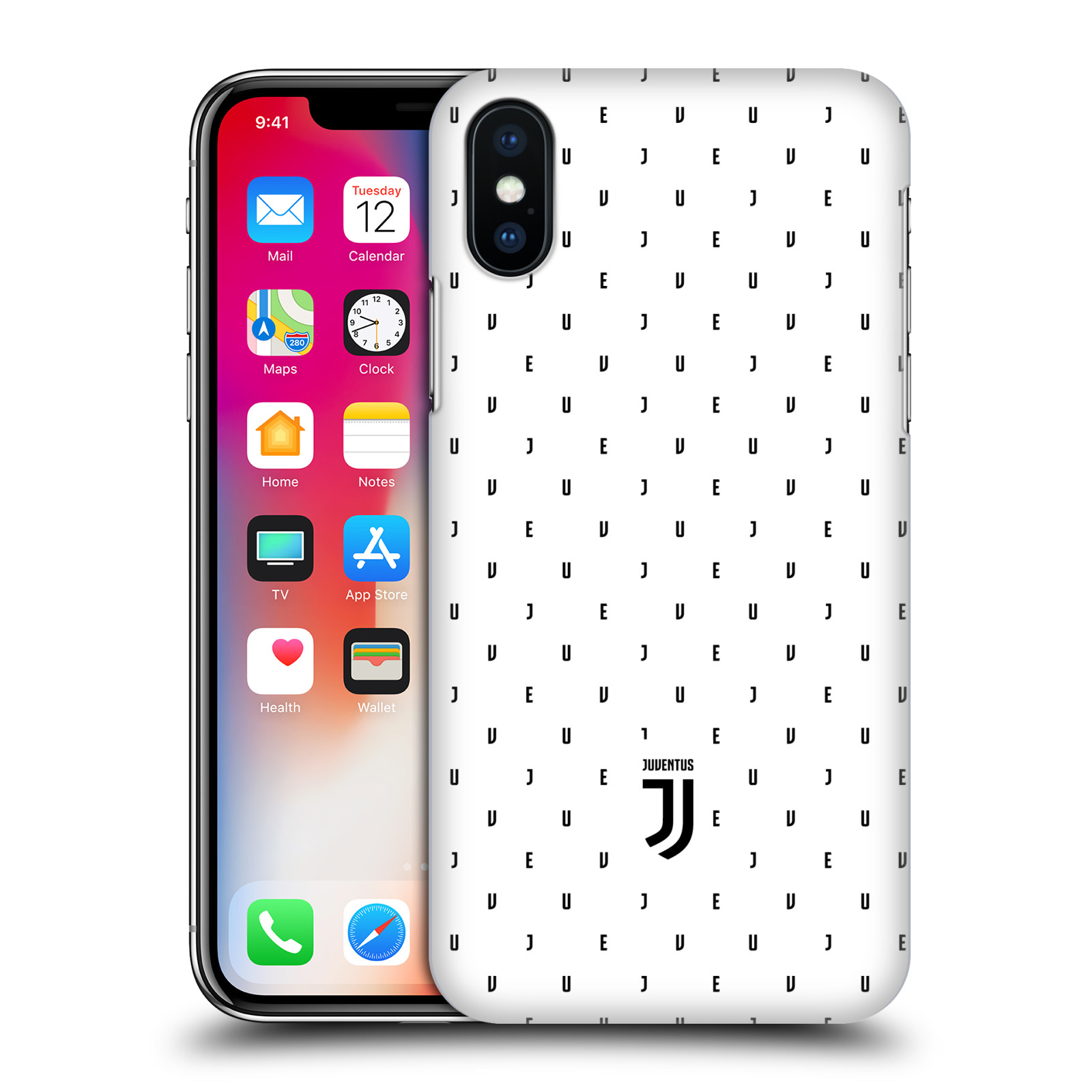 Plastové pouzdro na mobil Apple iPhone X - Head Case - Juventus FC - Nové logo - Decentní