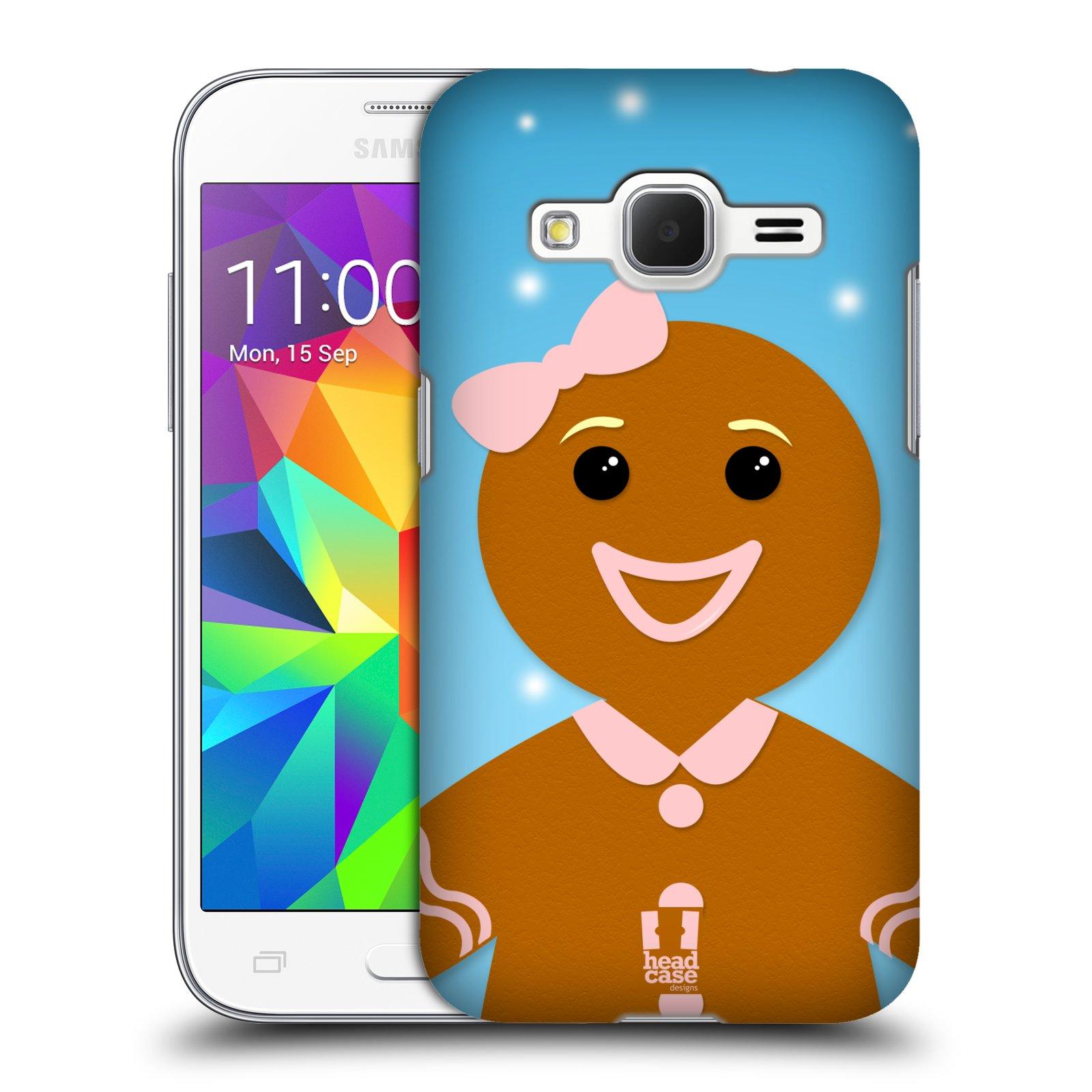 Plastové pouzdro na mobil Samsung Galaxy Core Prime VE HEAD CASE VÁNOCE PERNÍČEK (Kryt či obal na mobilní telefon Samsung Galaxy Core Prime LTE VE SM-G361F)